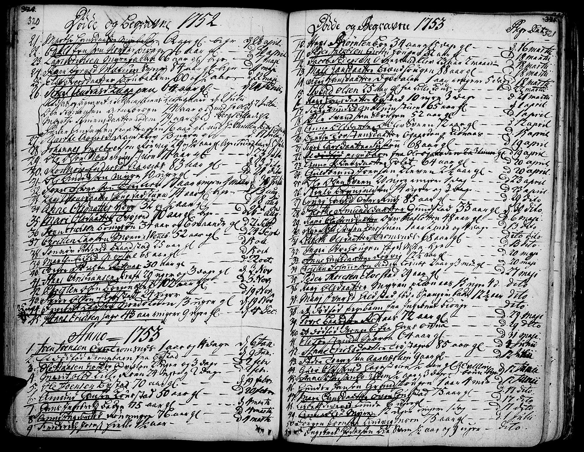 SAH, Ringebu prestekontor, Ministerialbok nr. 2, 1734-1780, s. 320-321