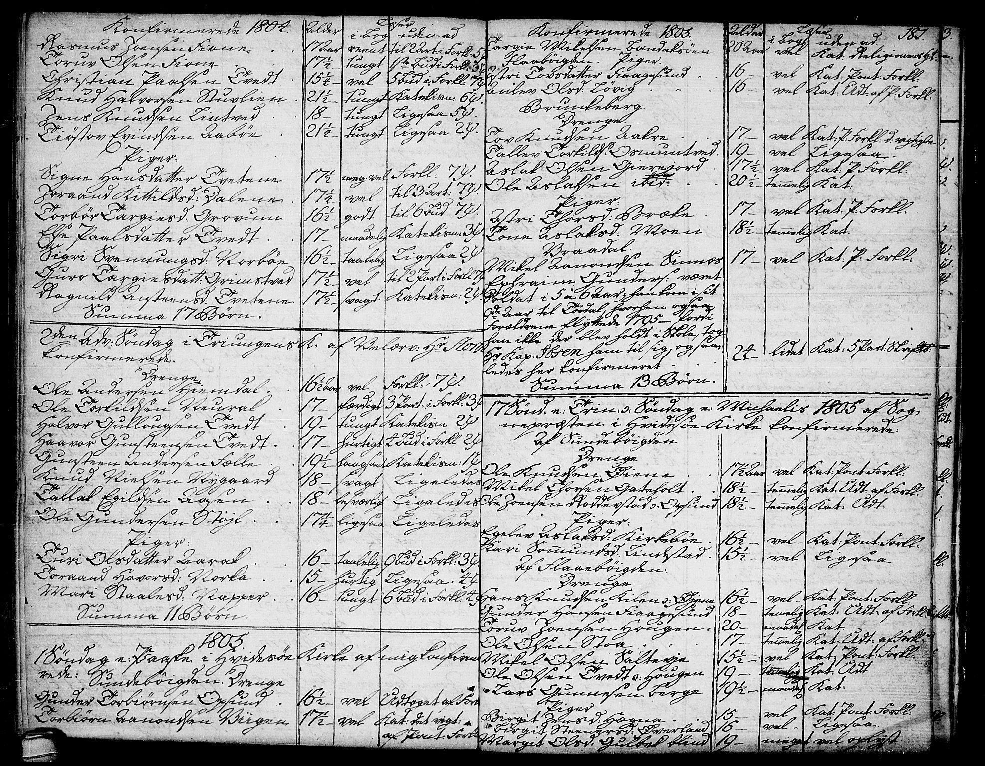 SAKO, Kviteseid kirkebøker, F/Fa/L0004: Ministerialbok nr. I 4, 1800-1814, s. 181