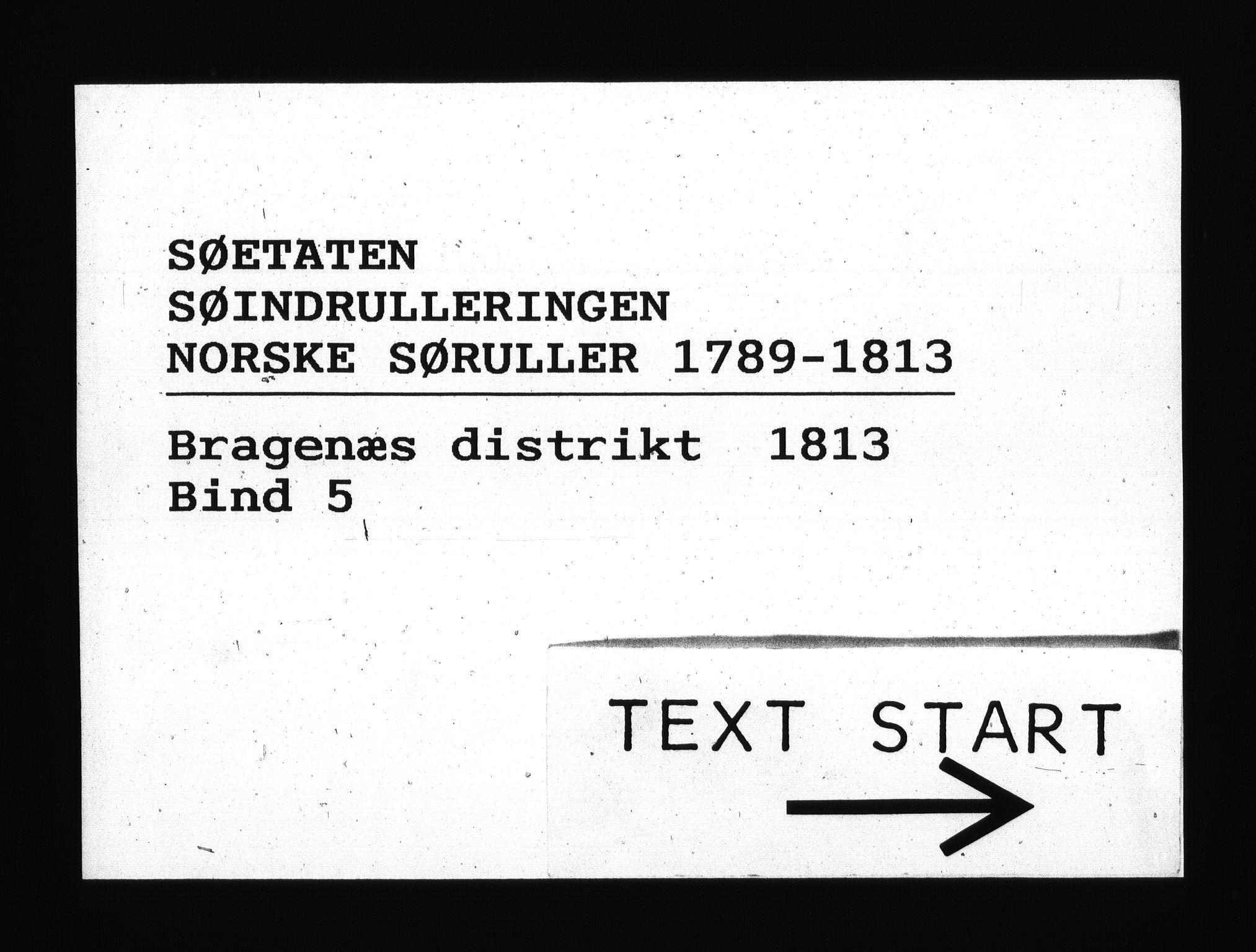 RA, Sjøetaten, F/L0172: Bragernes distrikt, bind 5, 1813