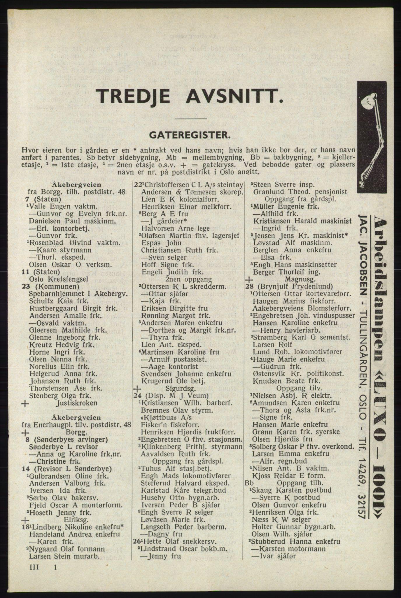 RA, Oslo adressebok (publikasjon)*, 1940, s. 1773