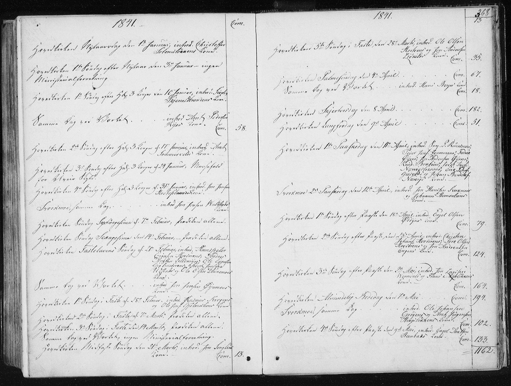 SAT, Ministerialprotokoller, klokkerbøker og fødselsregistre - Sør-Trøndelag, 668/L0805: Ministerialbok nr. 668A05, 1840-1853, s. 368
