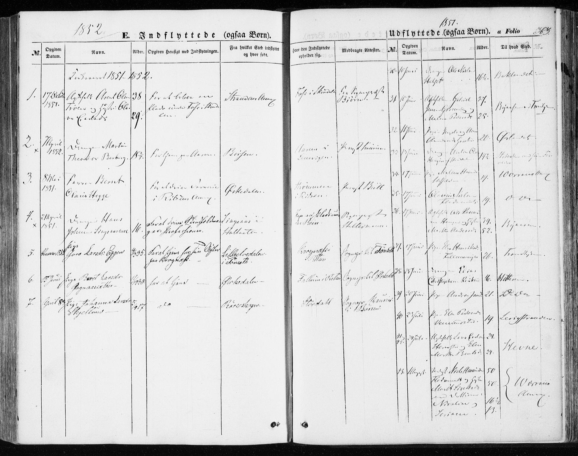 SAT, Ministerialprotokoller, klokkerbøker og fødselsregistre - Sør-Trøndelag, 646/L0611: Ministerialbok nr. 646A09, 1848-1857, s. 363