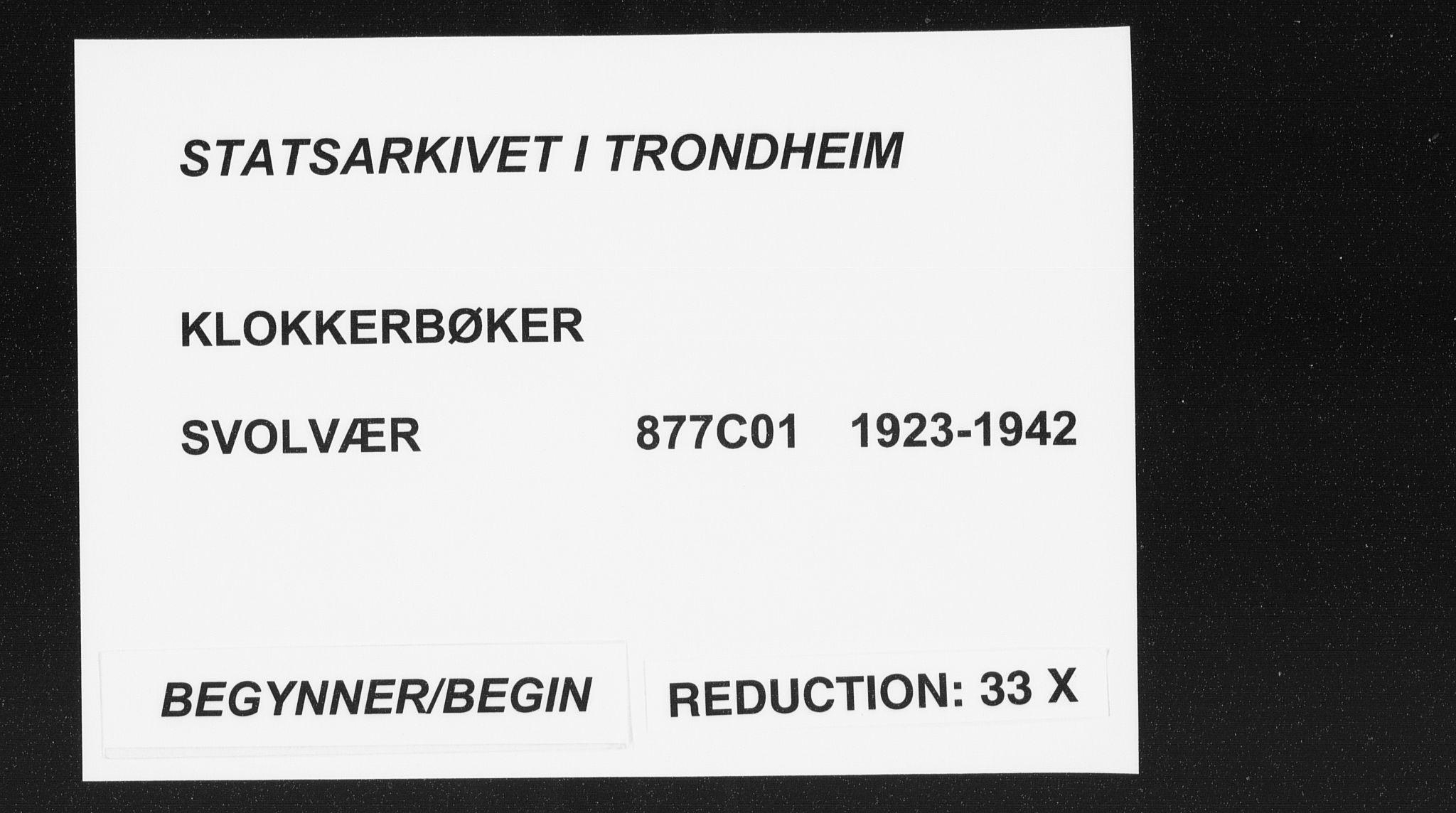 SAT, Ministerialprotokoller, klokkerbøker og fødselsregistre - Nordland, 877/L1117: Klokkerbok nr. 877C01, 1923-1942