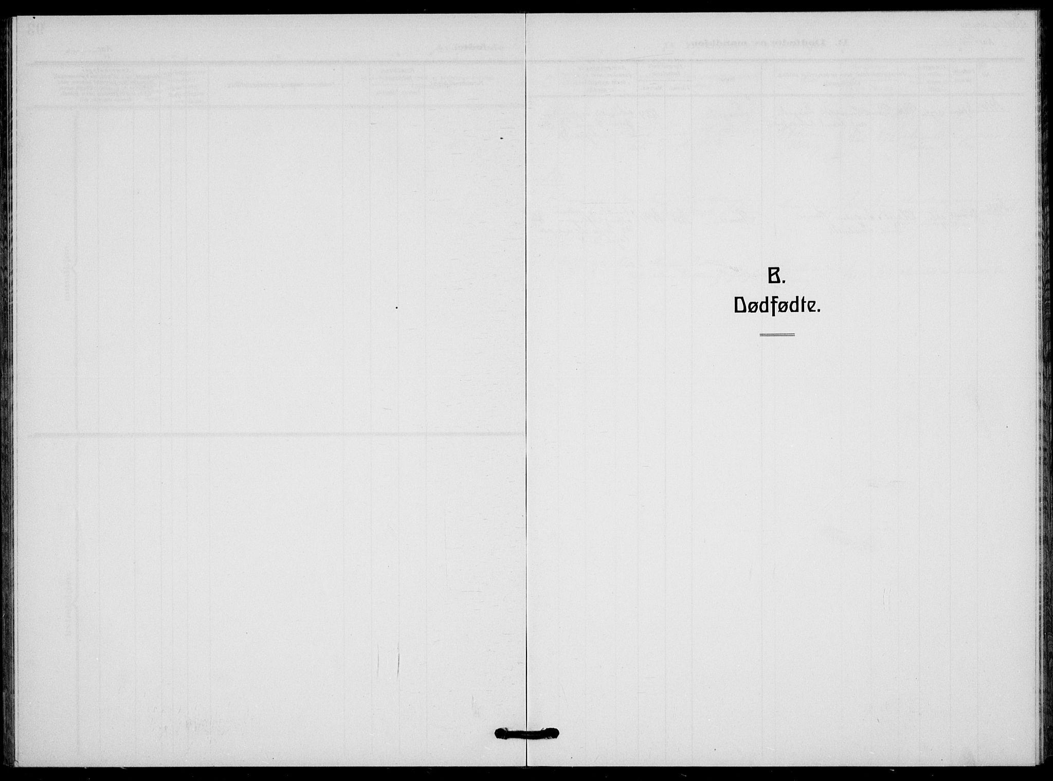 SAKO, Flesberg kirkebøker, G/Ga/L0006: Klokkerbok nr. I 6, 1909-1924