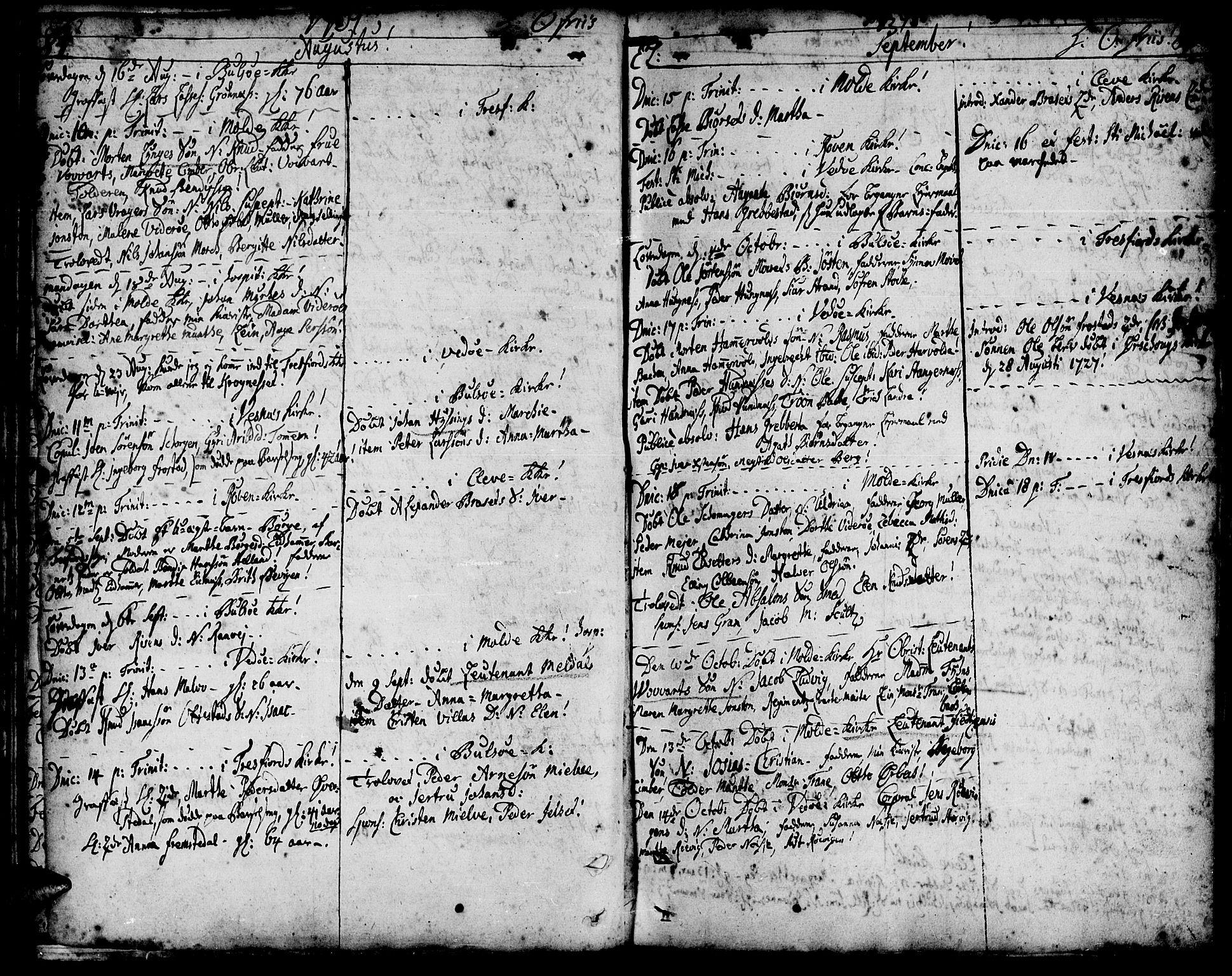 SAT, Ministerialprotokoller, klokkerbøker og fødselsregistre - Møre og Romsdal, 547/L0599: Ministerialbok nr. 547A01, 1721-1764, s. 86-87