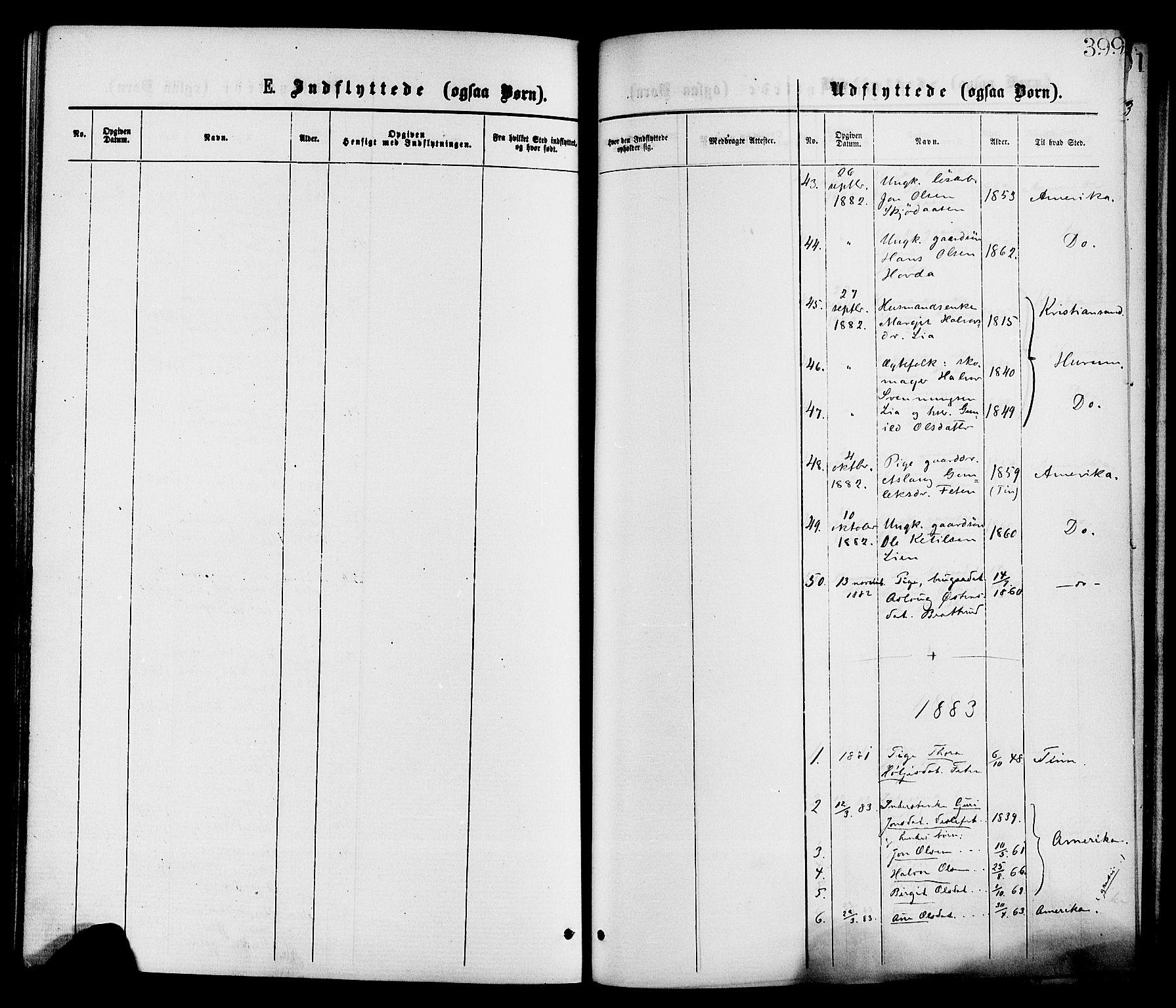 SAKO, Gransherad kirkebøker, F/Fa/L0004: Ministerialbok nr. I 4, 1871-1886, s. 399