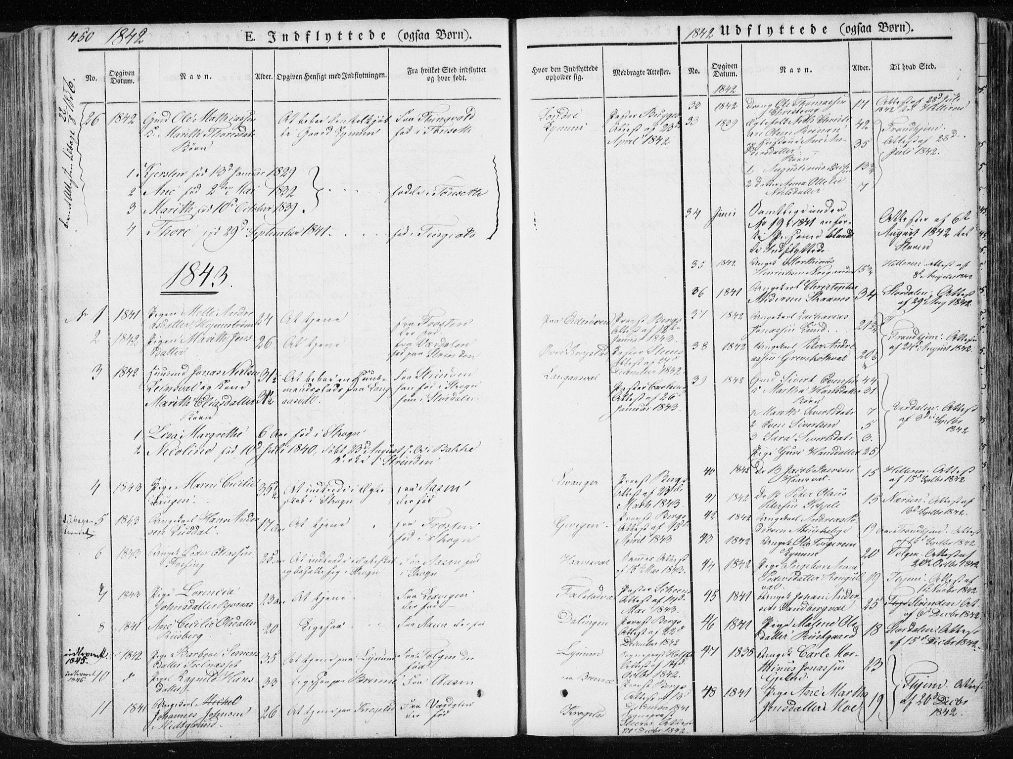 SAT, Ministerialprotokoller, klokkerbøker og fødselsregistre - Nord-Trøndelag, 717/L0154: Ministerialbok nr. 717A06 /1, 1836-1849, s. 450