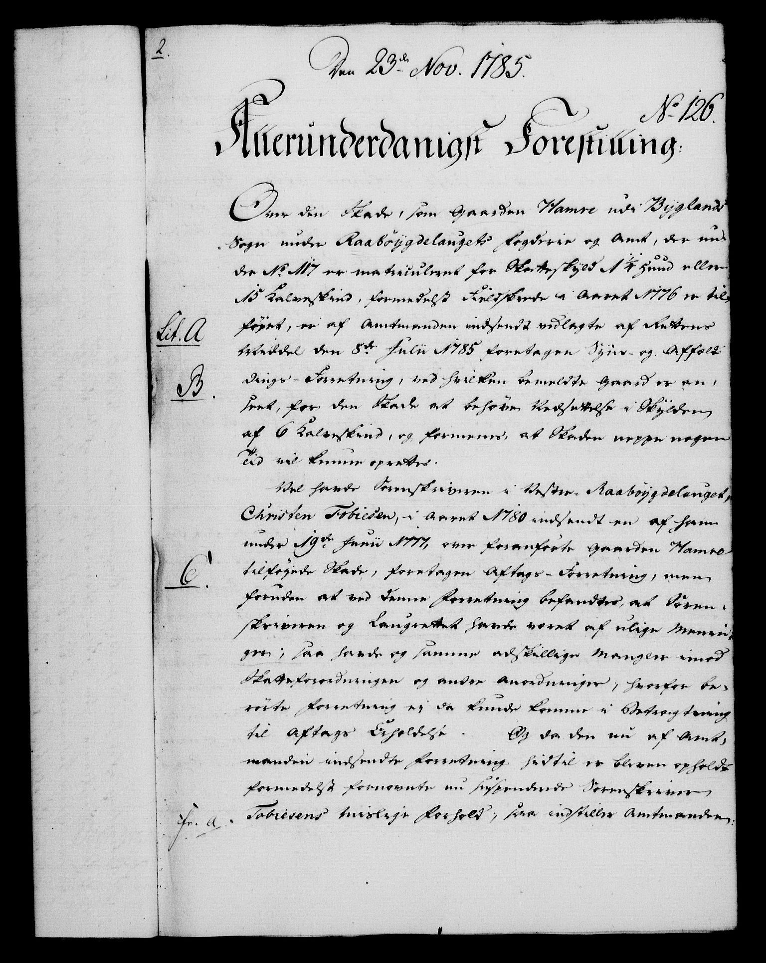 RA, Rentekammeret, Kammerkanselliet, G/Gf/Gfa/L0067: Norsk relasjons- og resolusjonsprotokoll (merket RK 52.67), 1785, s. 955