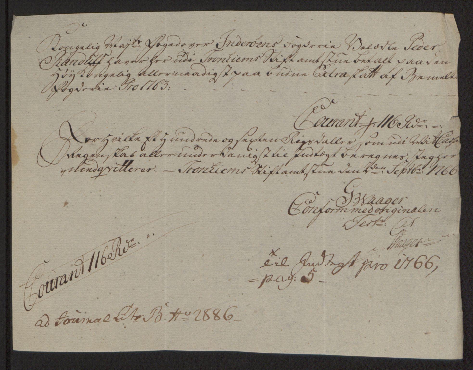 RA, Rentekammeret inntil 1814, Reviderte regnskaper, Fogderegnskap, R63/L4420: Ekstraskatten Inderøy, 1762-1772, s. 262