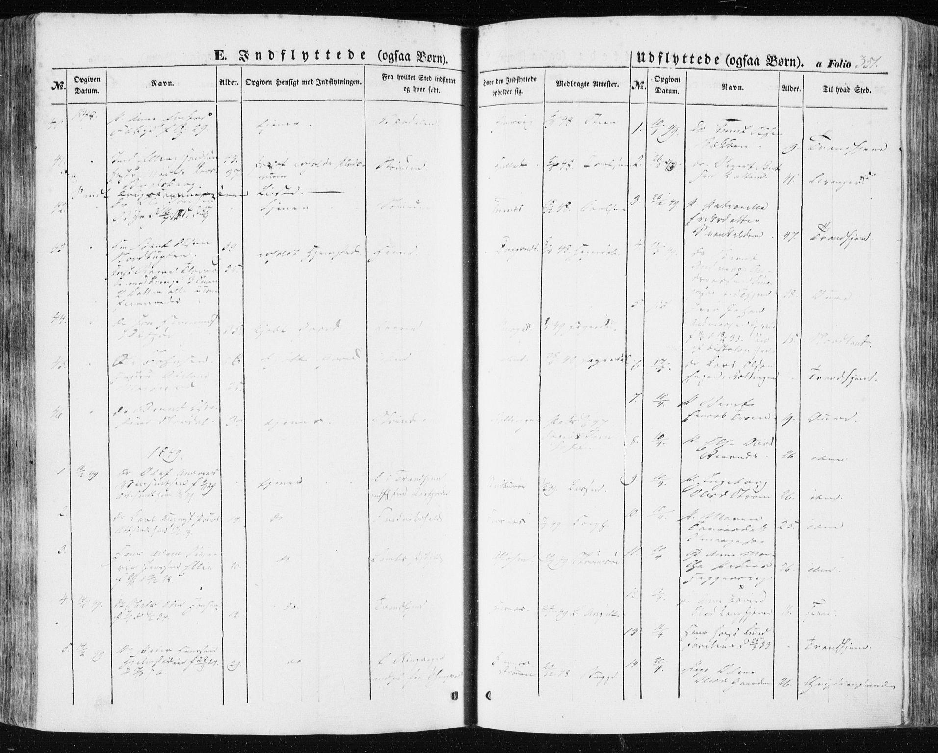 SAT, Ministerialprotokoller, klokkerbøker og fødselsregistre - Sør-Trøndelag, 634/L0529: Ministerialbok nr. 634A05, 1843-1851, s. 351