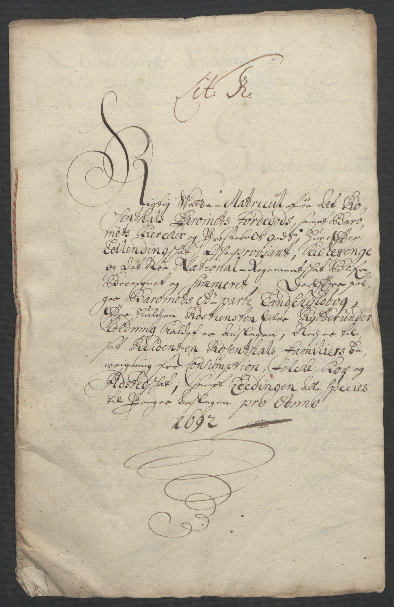 RA, Rentekammeret inntil 1814, Reviderte regnskaper, Fogderegnskap, R49/L3138: Fogderegnskap Rosendal Baroni, 1691-1714, s. 10