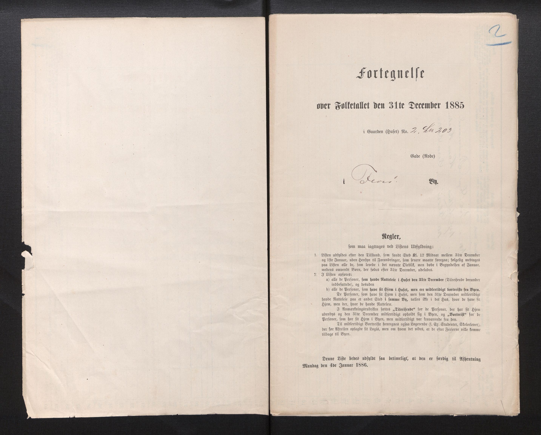 SAB, Folketelling 1885 for 1401 Florø ladested, 1885, s. 2