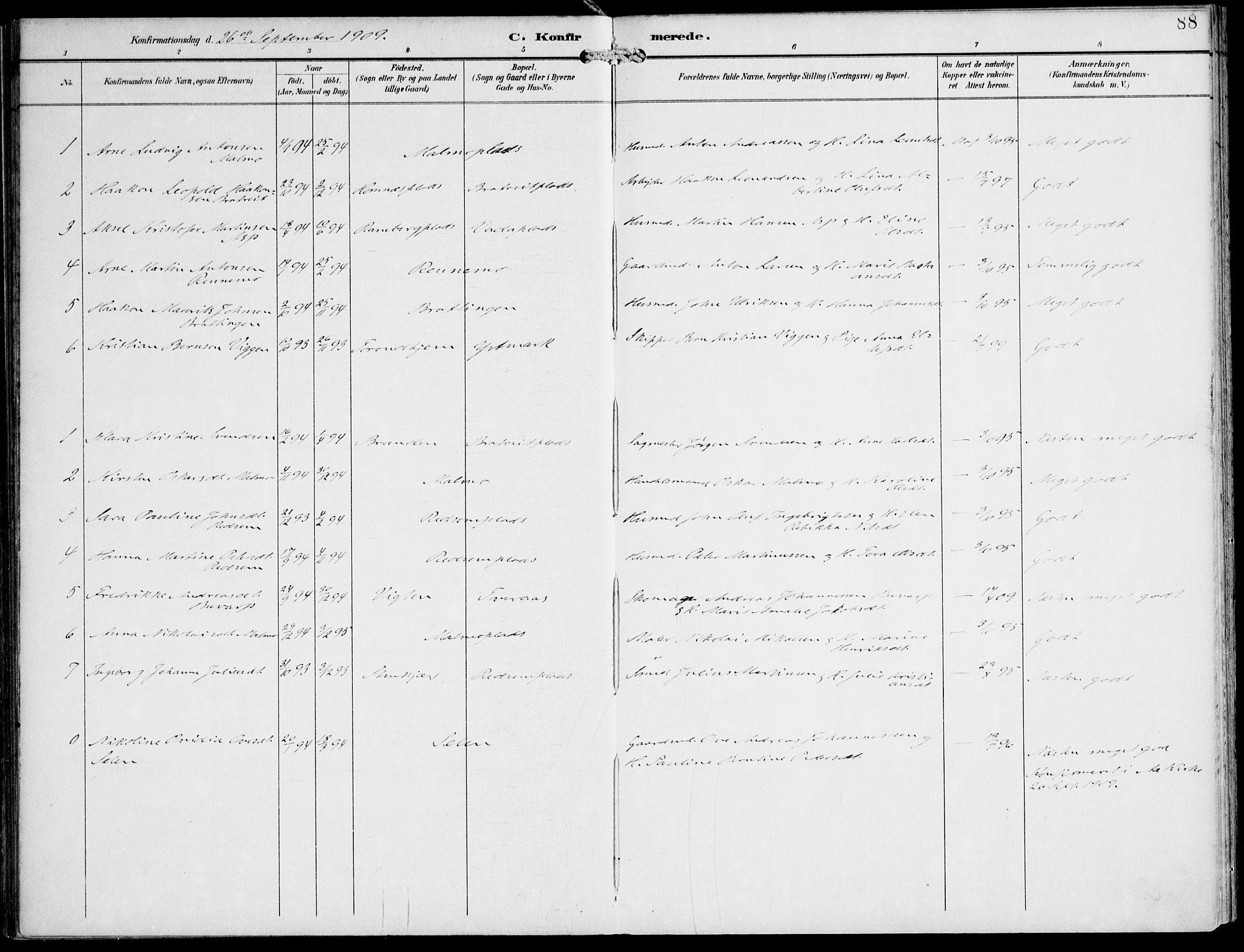 SAT, Ministerialprotokoller, klokkerbøker og fødselsregistre - Nord-Trøndelag, 745/L0430: Ministerialbok nr. 745A02, 1895-1913, s. 88