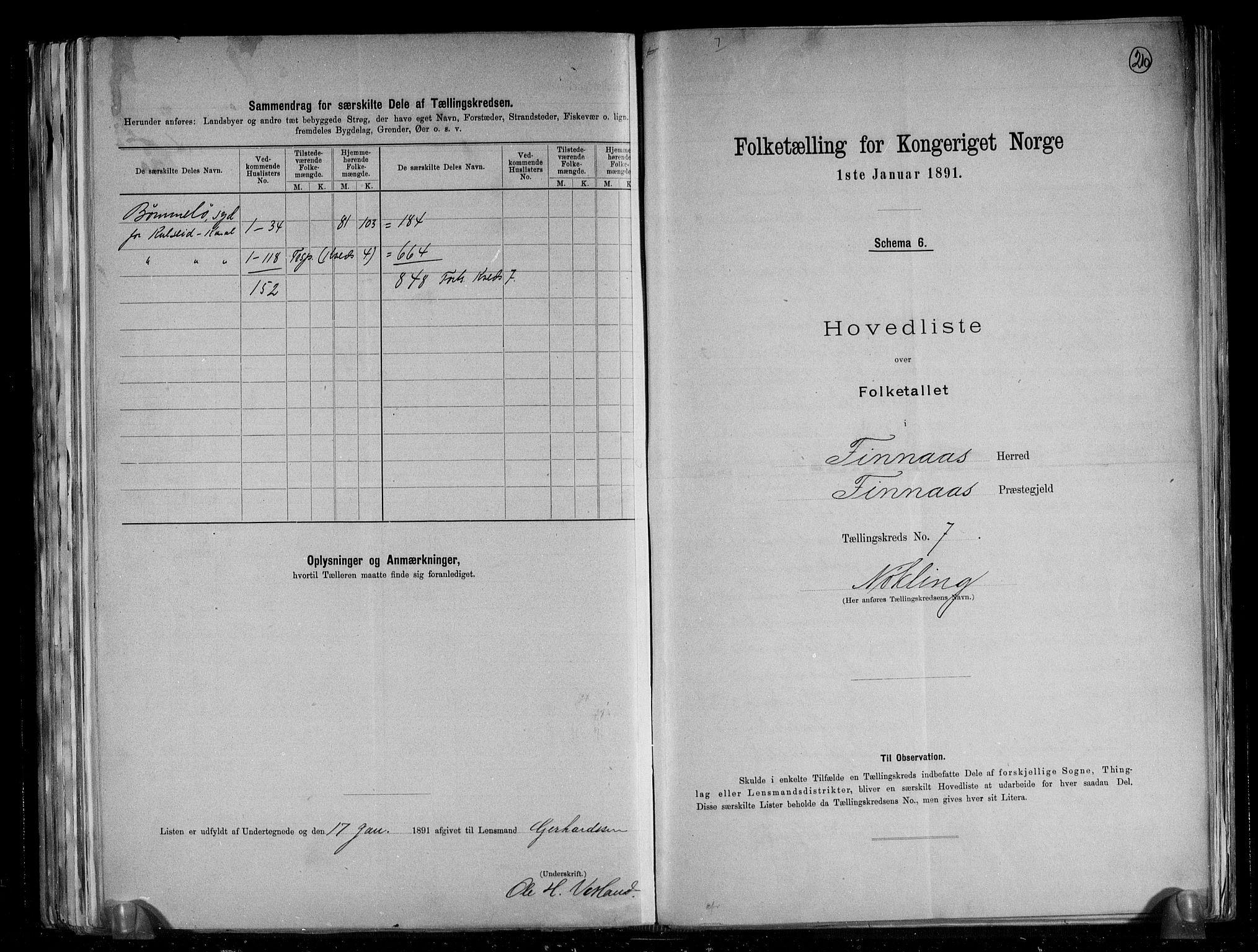 RA, Folketelling 1891 for 1218 Finnås herred, 1891, s. 18
