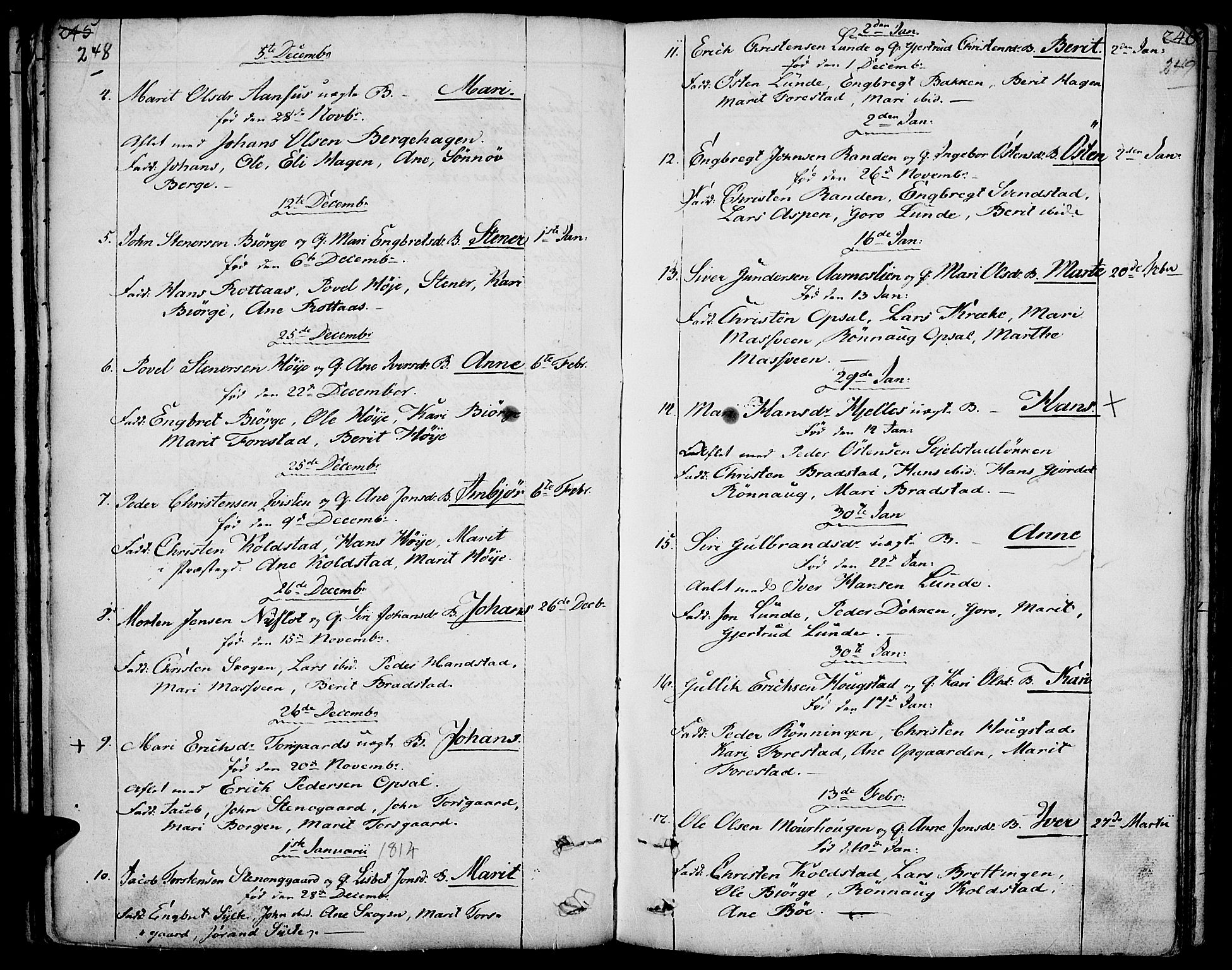 SAH, Ringebu prestekontor, Ministerialbok nr. 3, 1781-1820, s. 248-249