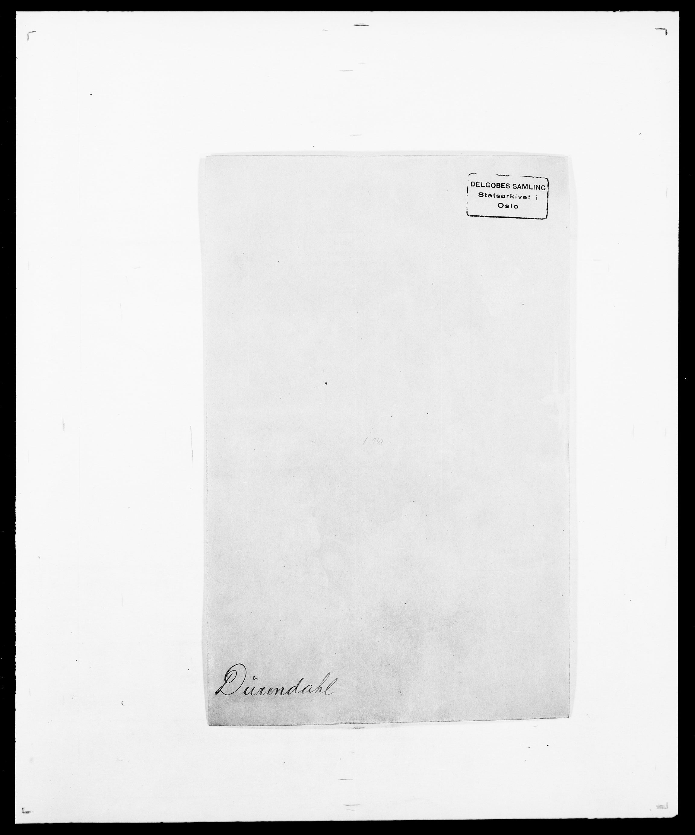 SAO, Delgobe, Charles Antoine - samling, D/Da/L0010: Dürendahl - Fagelund, s. 1