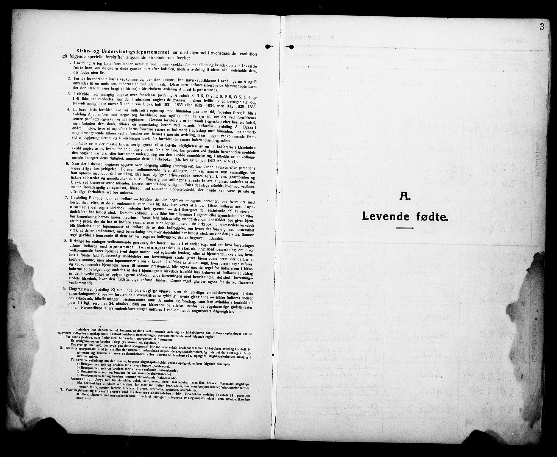SAKO, Eidanger kirkebøker, G/Ga/L0004: Klokkerbok nr. 4, 1912-1927, s. 3