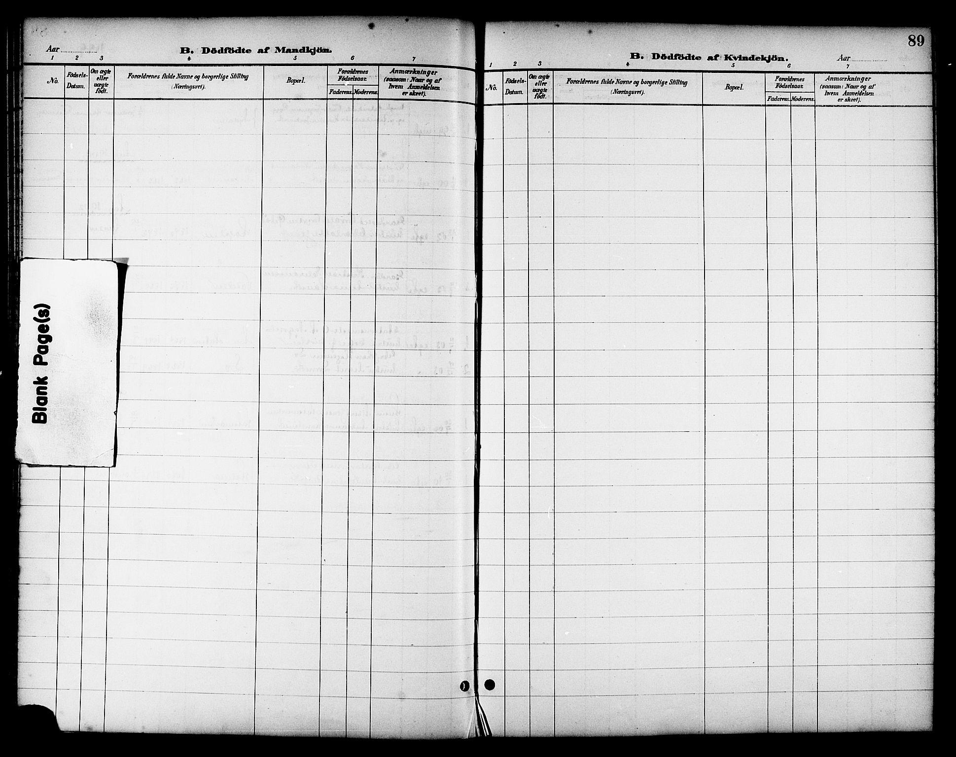 SAT, Ministerialprotokoller, klokkerbøker og fødselsregistre - Nord-Trøndelag, 714/L0135: Klokkerbok nr. 714C04, 1899-1918, s. 89