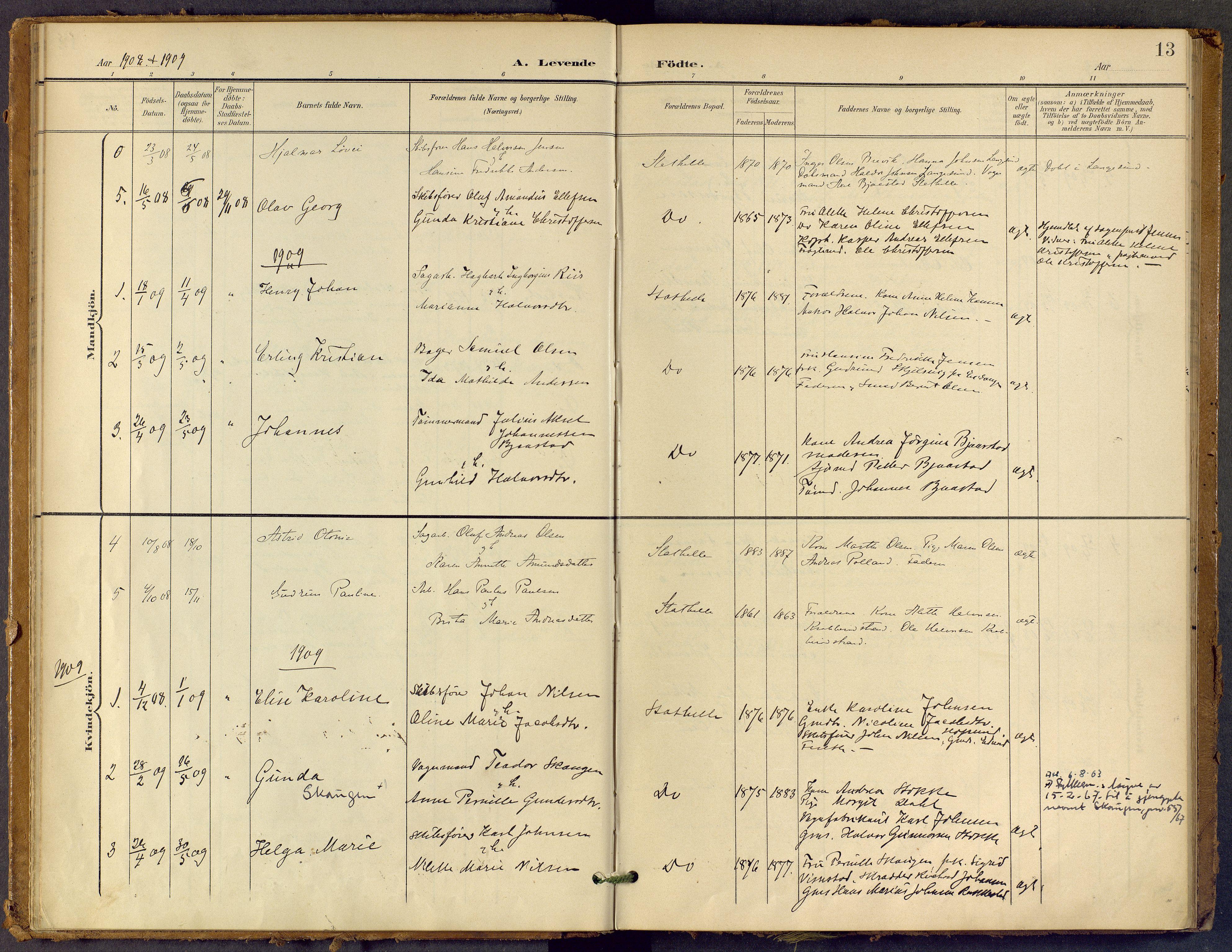 SAKO, Bamble kirkebøker, F/Fb/L0002: Ministerialbok nr. II 2, 1900-1921, s. 13