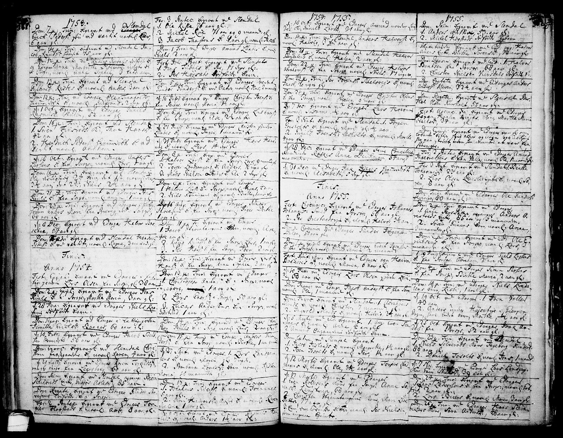 SAKO, Eidanger kirkebøker, F/Fa/L0004: Ministerialbok nr. 4, 1733-1759, s. 361-362