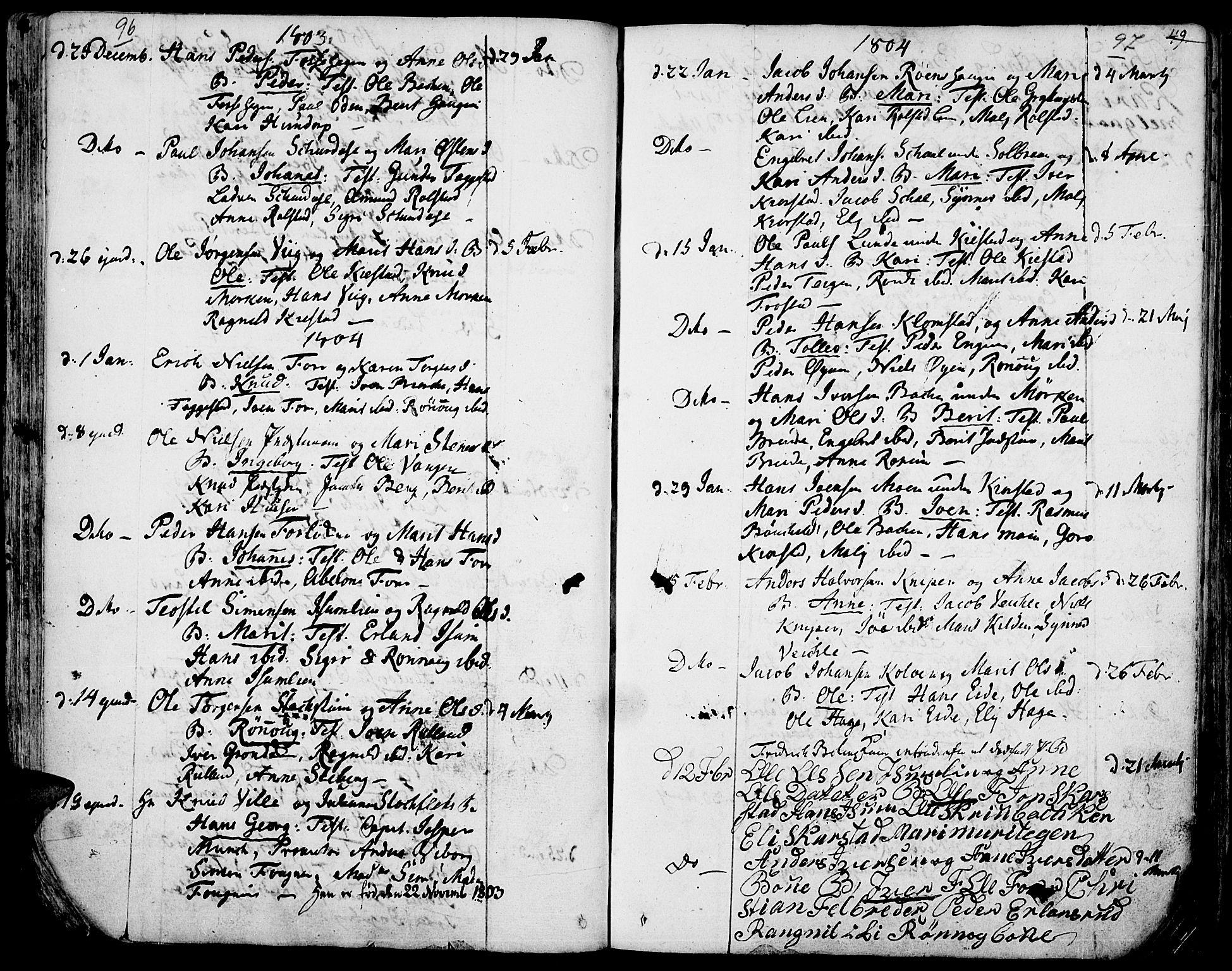 SAH, Fron prestekontor, H/Ha/Haa/L0001: Ministerialbok nr. 1, 1799-1816, s. 96-97