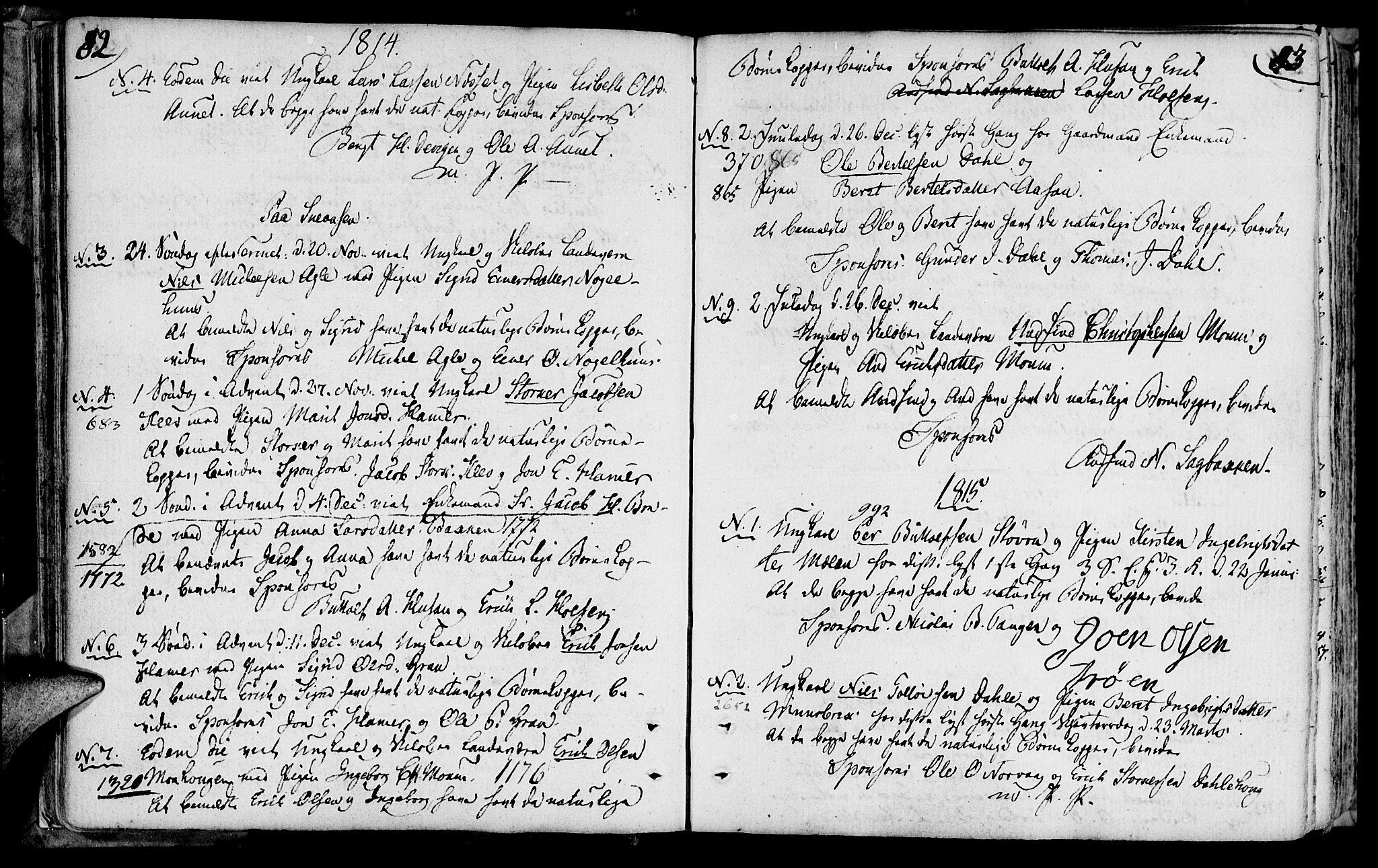 SAT, Ministerialprotokoller, klokkerbøker og fødselsregistre - Nord-Trøndelag, 749/L0468: Ministerialbok nr. 749A02, 1787-1817, s. 82-83