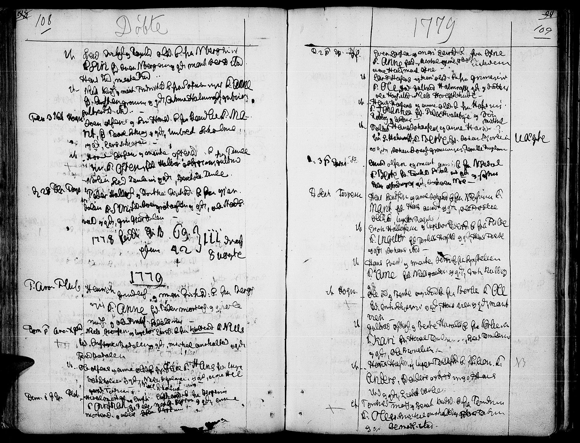 SAH, Land prestekontor, Ministerialbok nr. 5, 1765-1784, s. 108-109