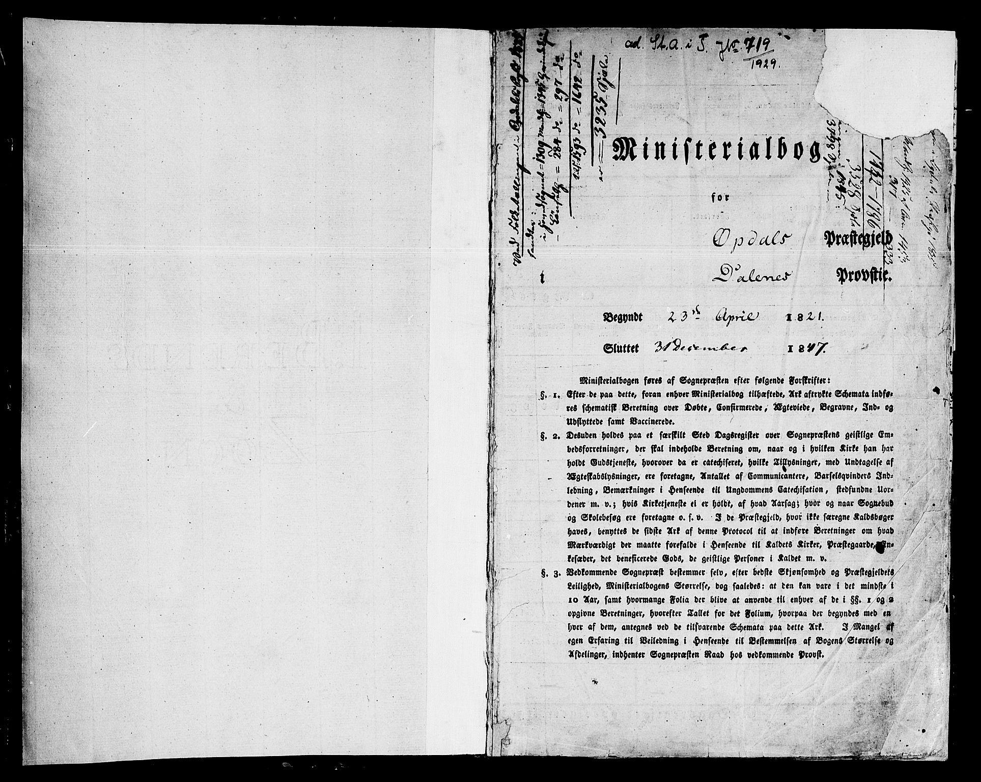 SAT, Ministerialprotokoller, klokkerbøker og fødselsregistre - Sør-Trøndelag, 678/L0897: Ministerialbok nr. 678A06-07, 1821-1847