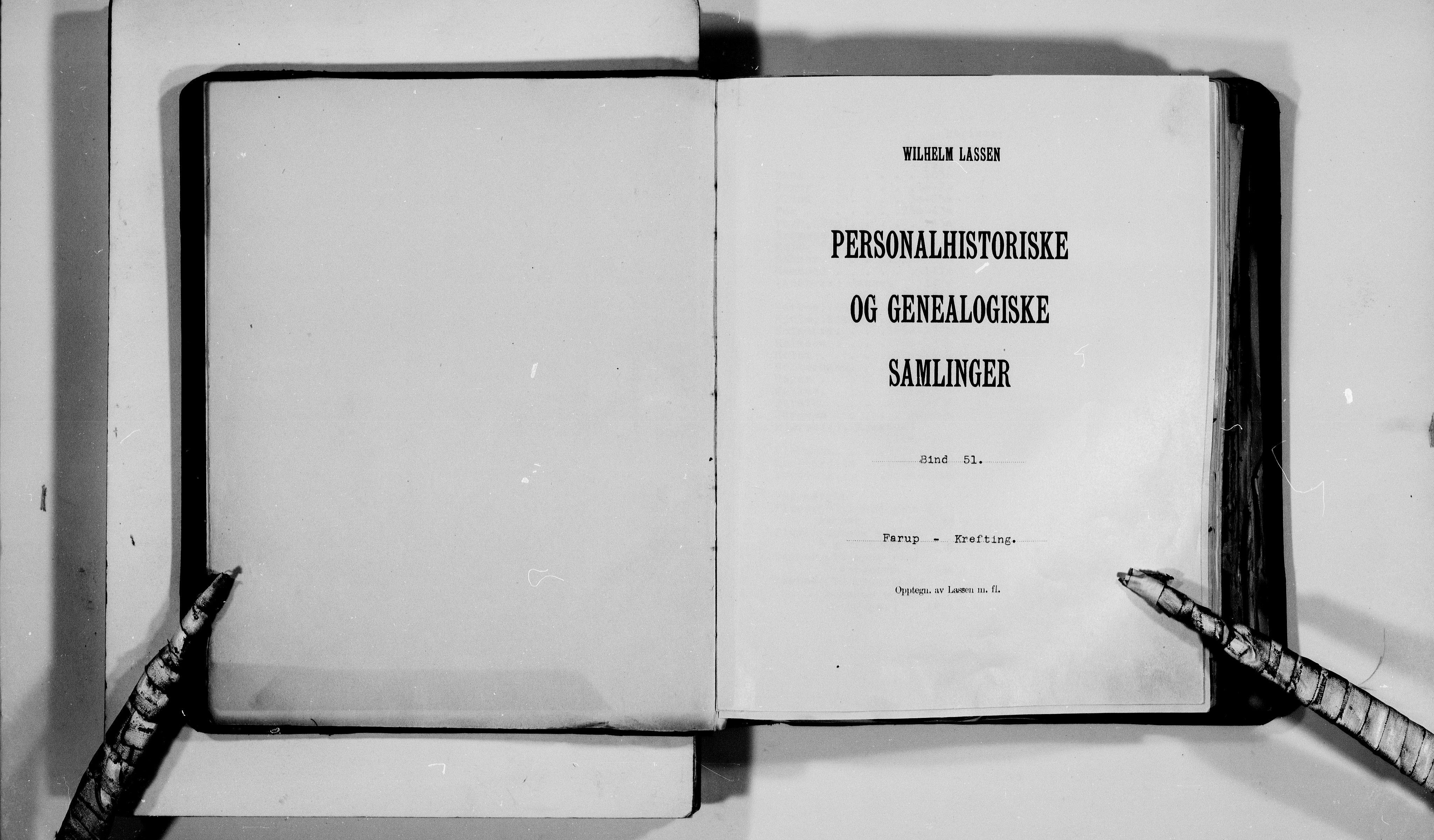 RA, Lassens samlinger, F/Fb, s. upaginert