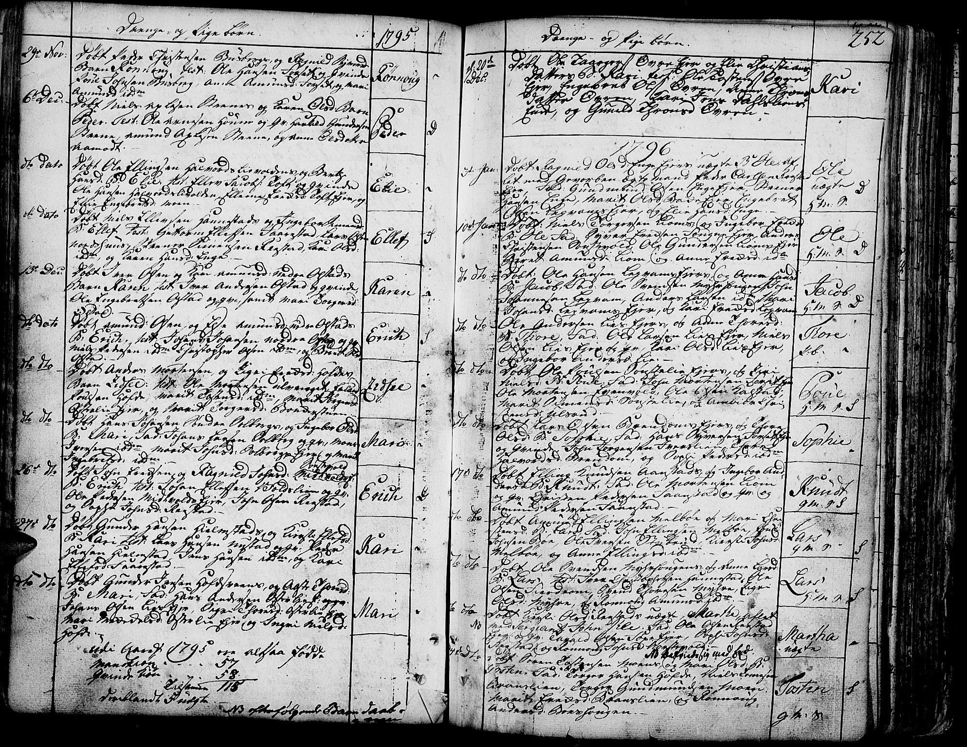 SAH, Gausdal prestekontor, Ministerialbok nr. 3, 1758-1809, s. 252