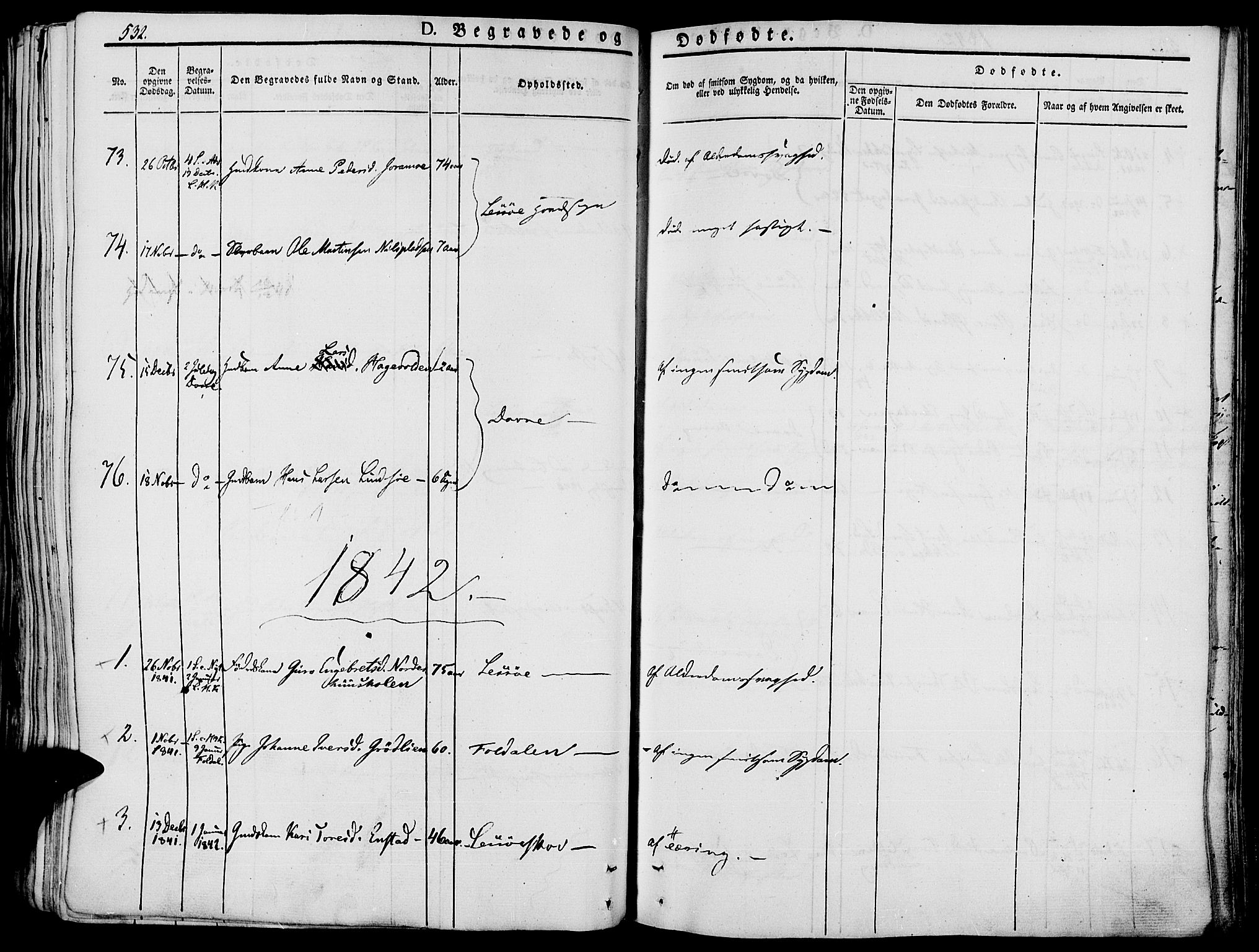 SAH, Lesja prestekontor, Ministerialbok nr. 5, 1830-1842, s. 532