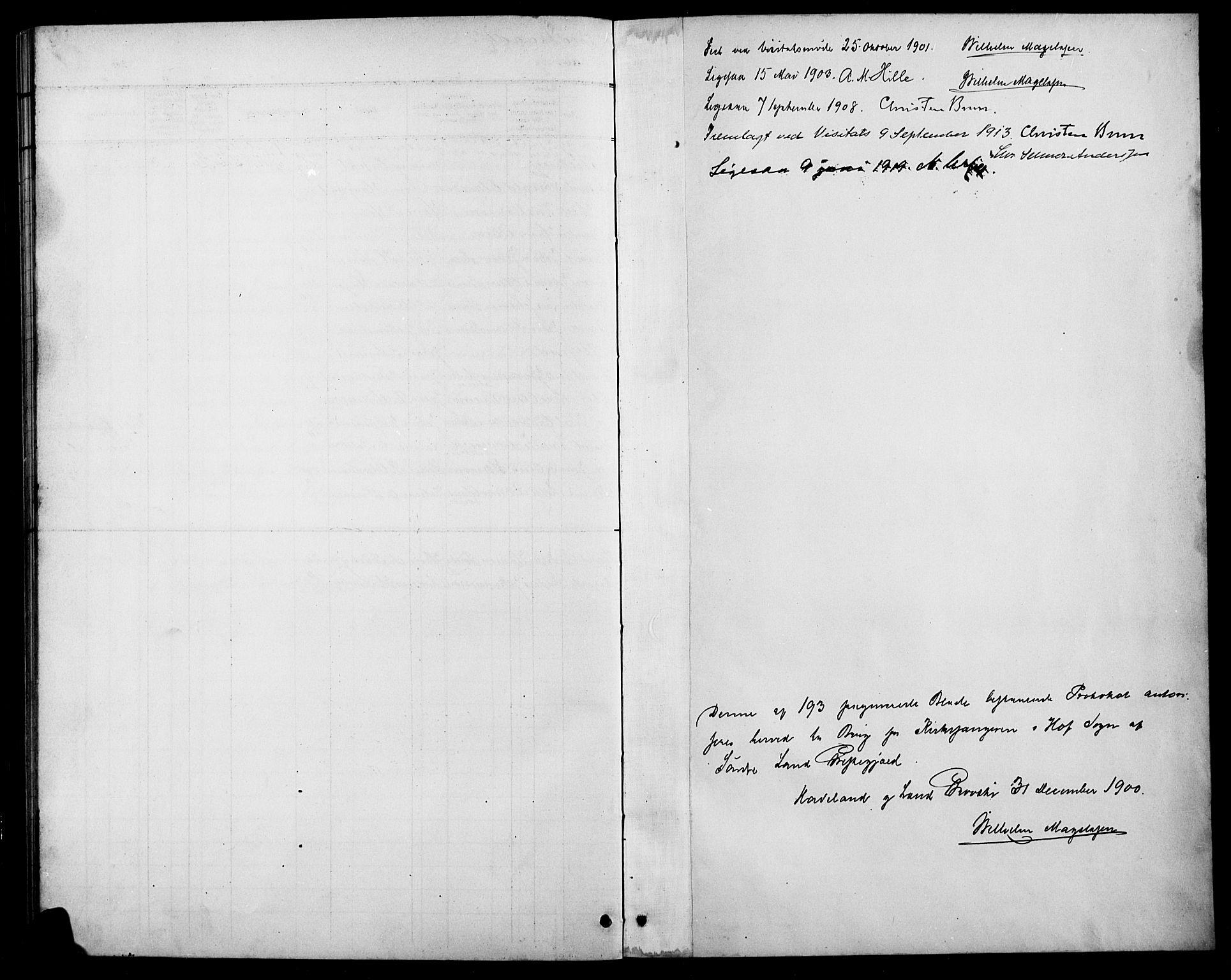 SAH, Søndre Land prestekontor, L/L0004: Klokkerbok nr. 4, 1901-1915