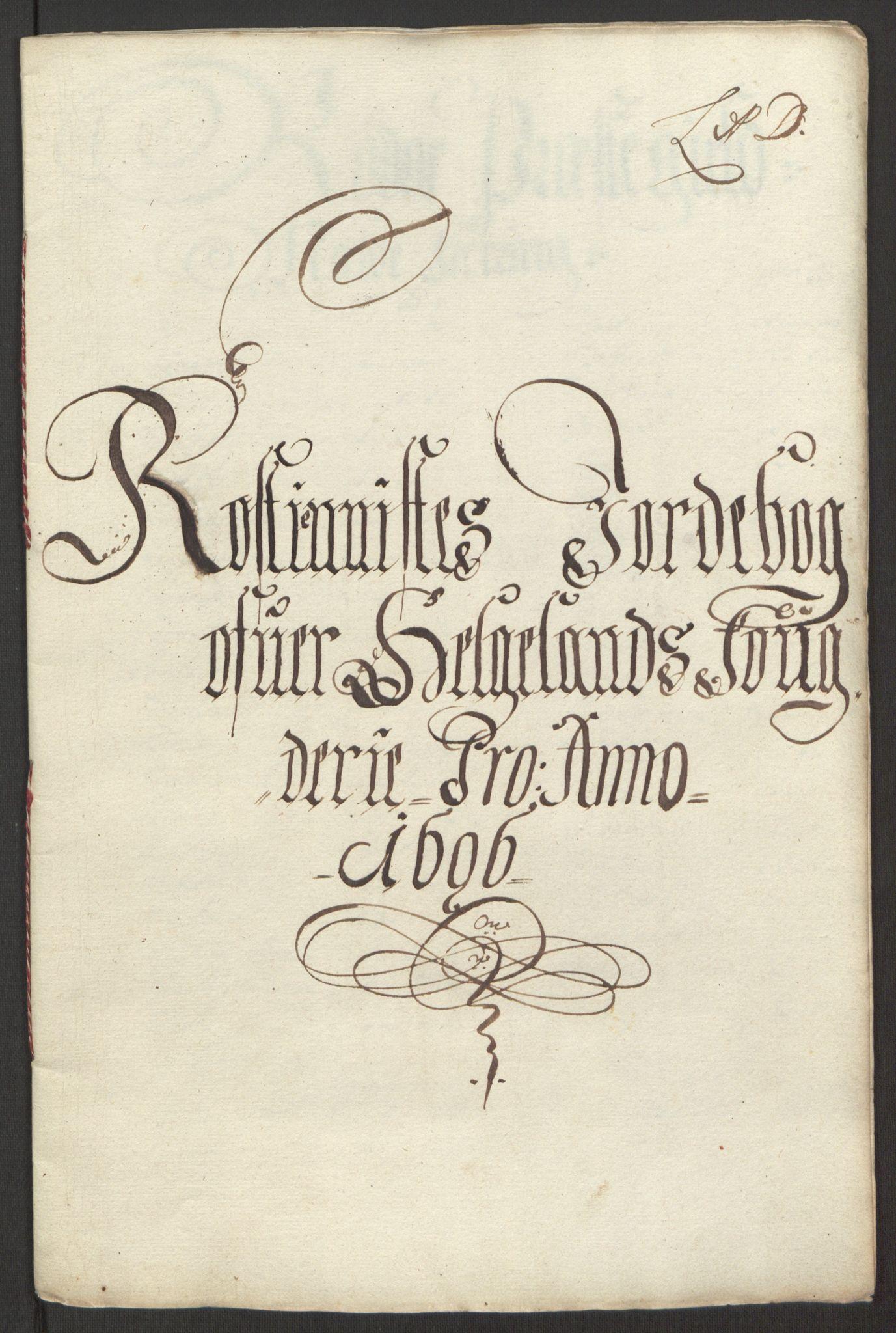 RA, Rentekammeret inntil 1814, Reviderte regnskaper, Fogderegnskap, R65/L4505: Fogderegnskap Helgeland, 1693-1696, s. 491