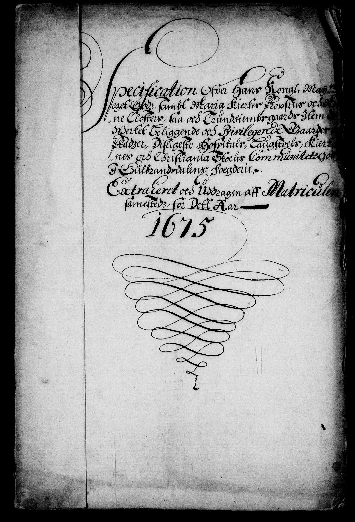 RA, Rentekammeret inntil 1814, Realistisk ordnet avdeling, On/L0013: [Jj 14]: Forskjellige dokumenter om krongodset i Norge, 1672-1722, s. 112