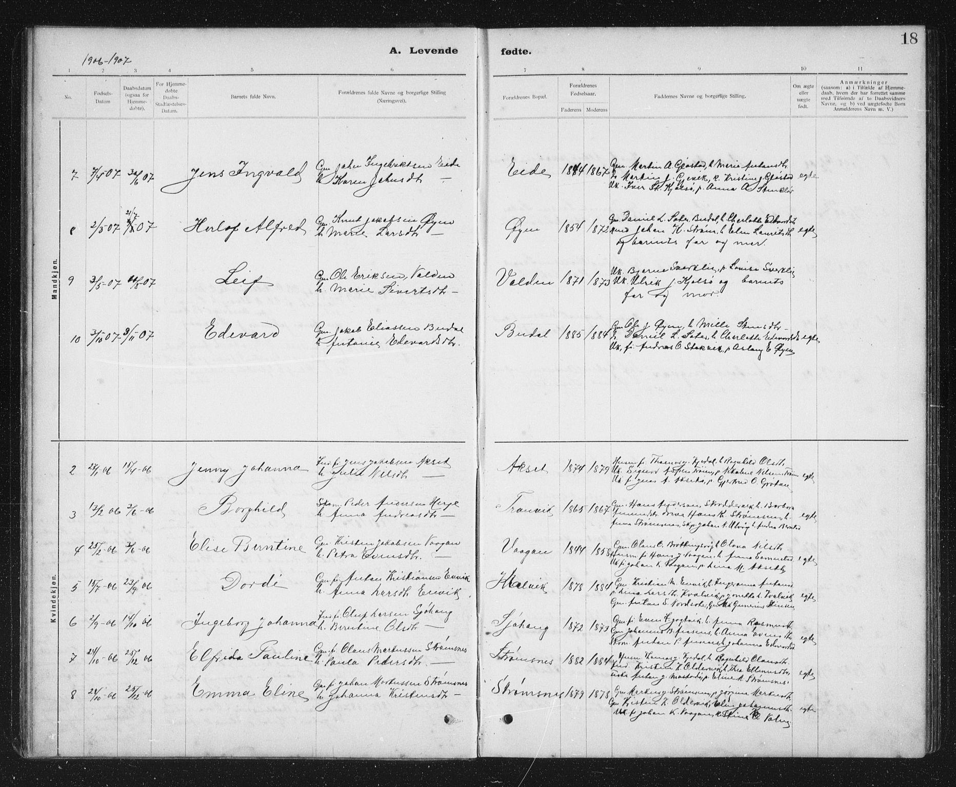 SAT, Ministerialprotokoller, klokkerbøker og fødselsregistre - Sør-Trøndelag, 637/L0563: Klokkerbok nr. 637C04, 1899-1940, s. 18