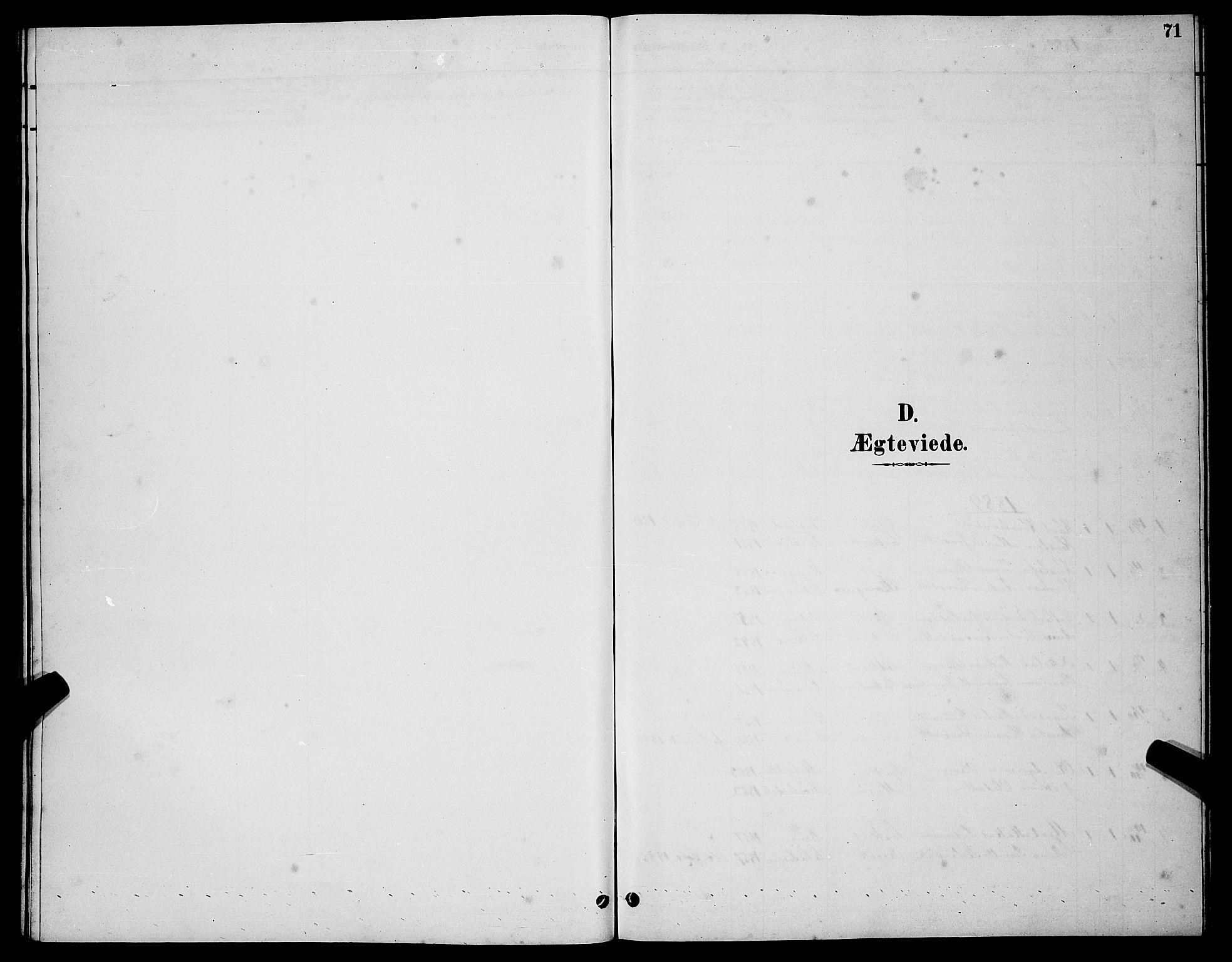 SATØ, Tranøy sokneprestkontor, I/Ia/Iab/L0004klokker: Klokkerbok nr. 4, 1888-1901, s. 71