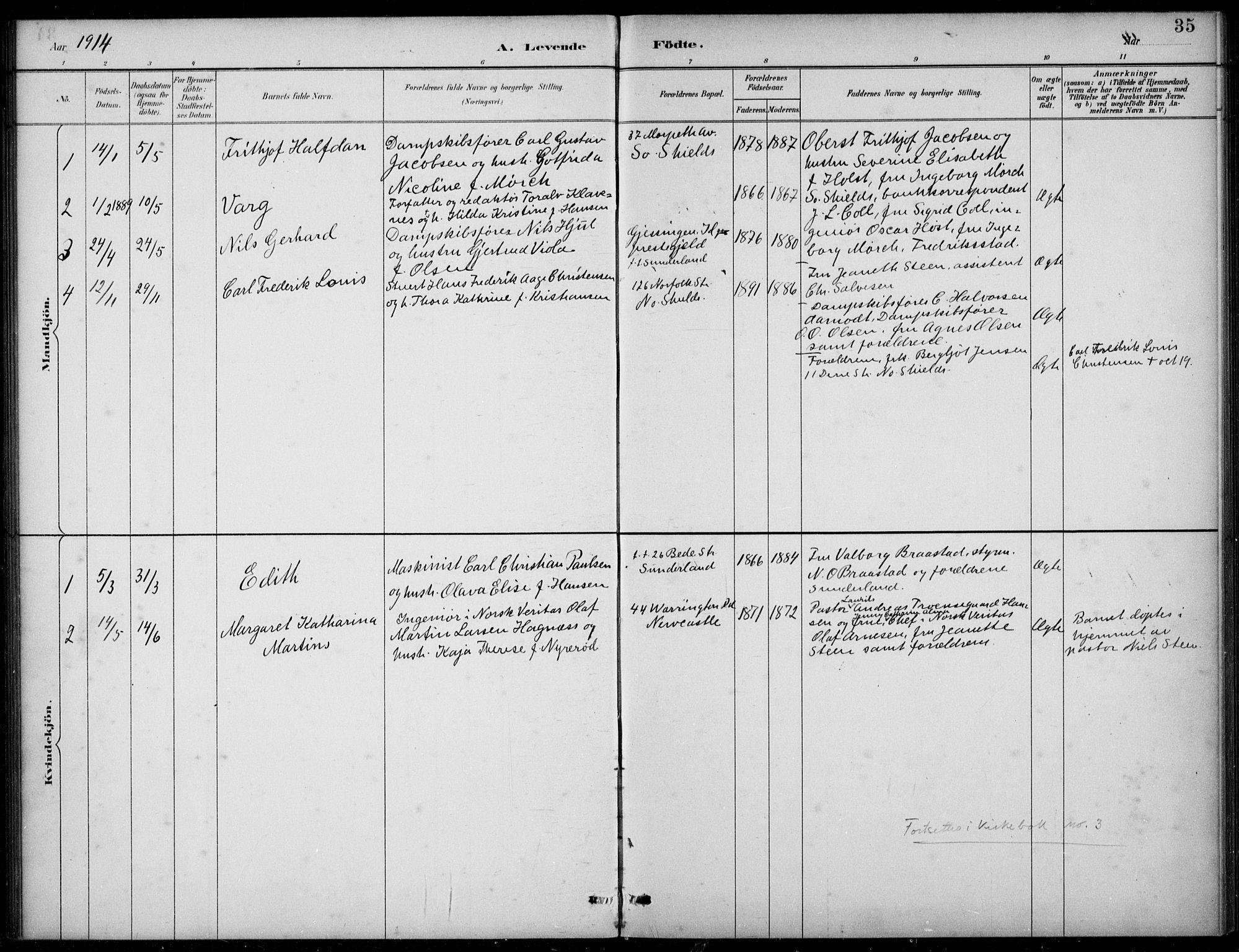 SAB, Den Norske Sjømannsmisjon i utlandet*, Ministerialbok nr. A 2, 1883-1936, s. 35