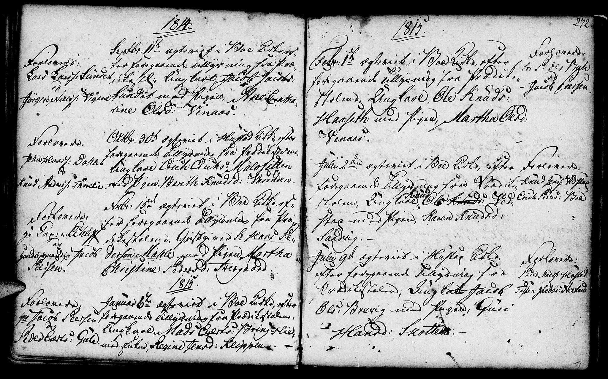 SAT, Ministerialprotokoller, klokkerbøker og fødselsregistre - Møre og Romsdal, 566/L0761: Ministerialbok nr. 566A02 /1, 1767-1817, s. 272