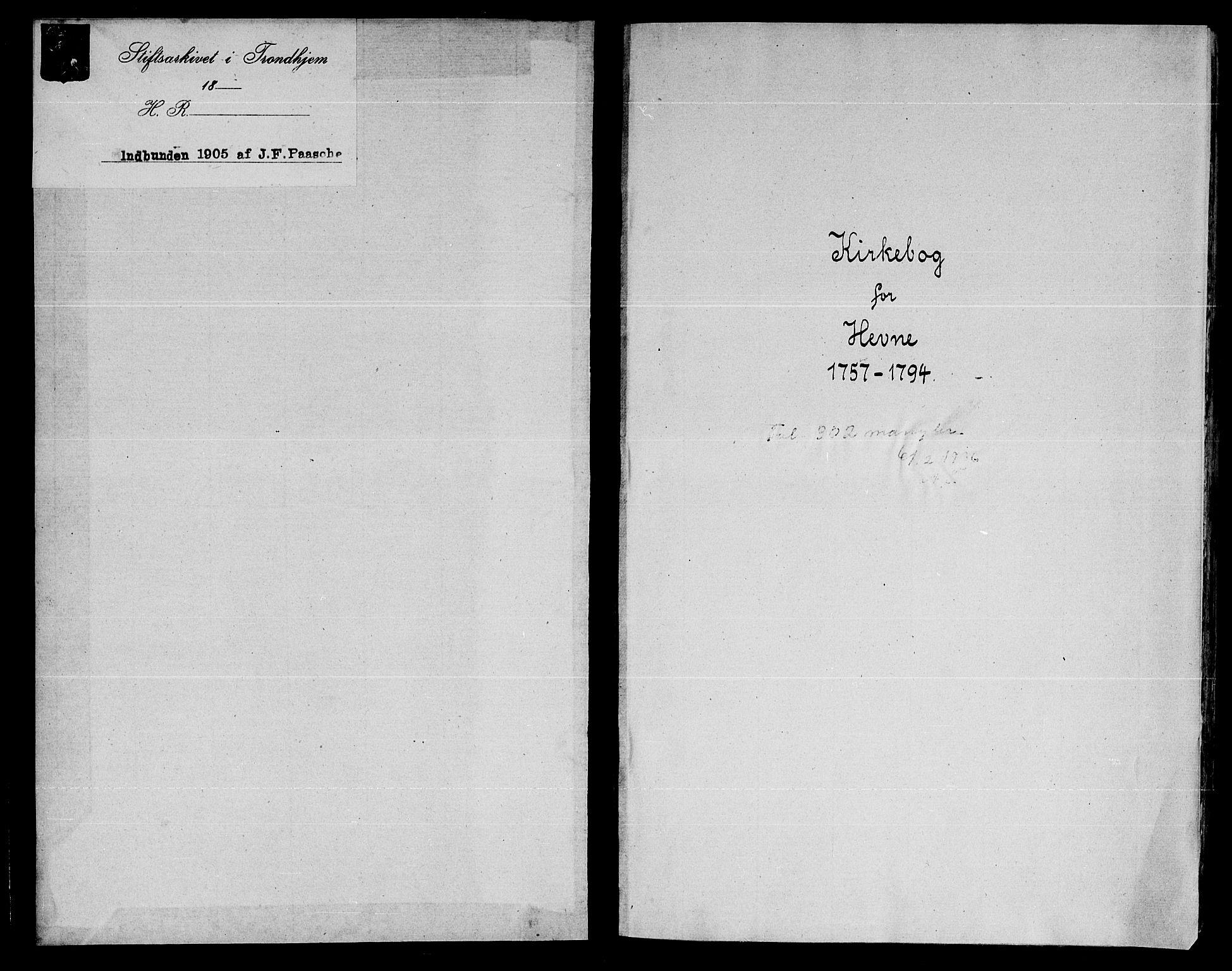 SAT, Ministerialprotokoller, klokkerbøker og fødselsregistre - Sør-Trøndelag, 630/L0489: Ministerialbok nr. 630A02, 1757-1794