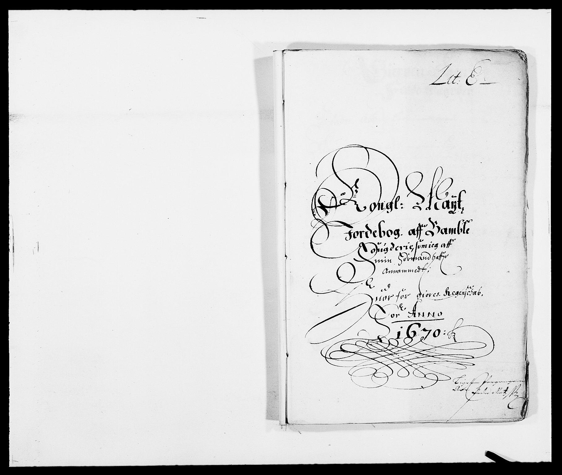 RA, Rentekammeret inntil 1814, Reviderte regnskaper, Fogderegnskap, R34/L2041: Fogderegnskap Bamble, 1670-1672, s. 80
