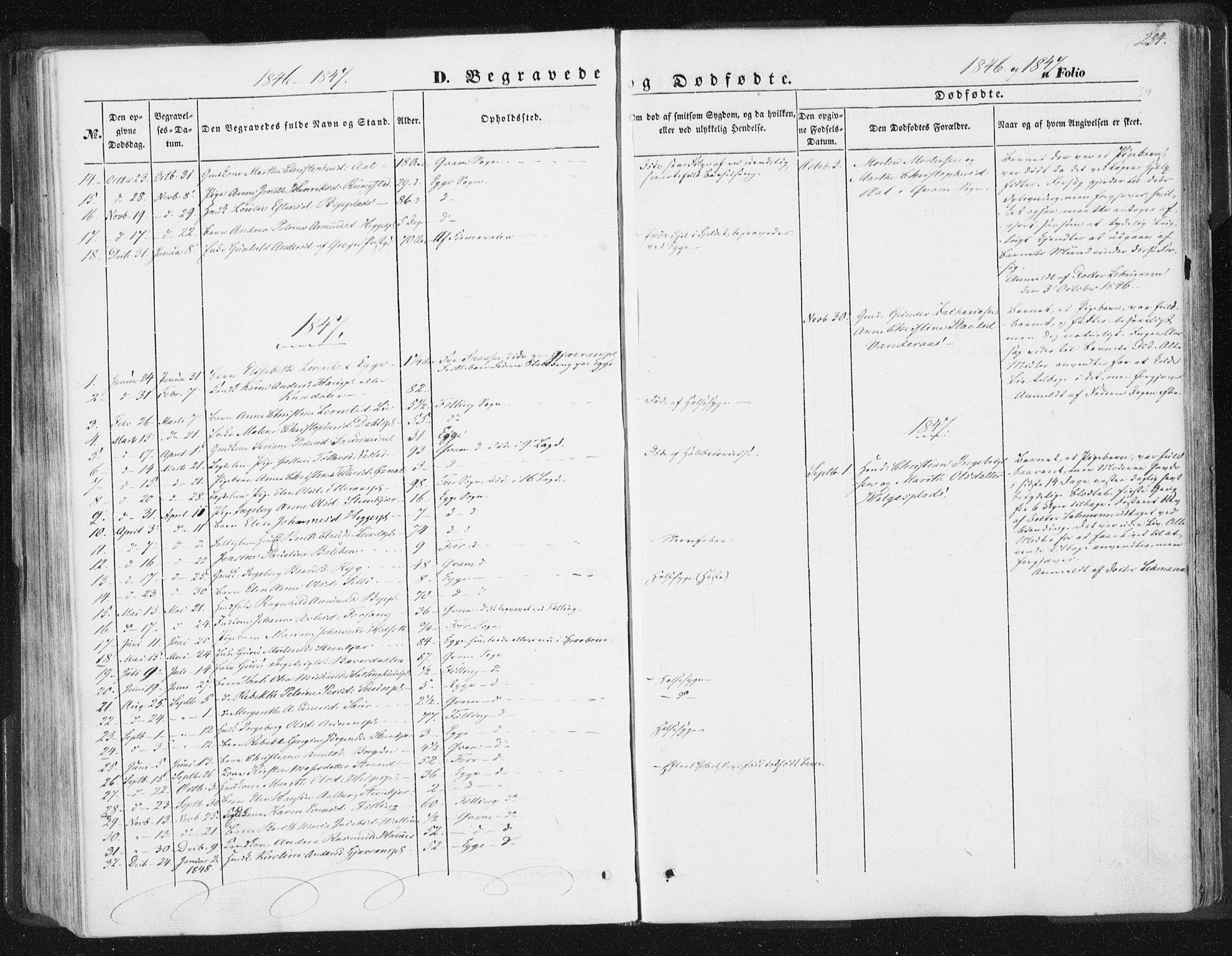 SAT, Ministerialprotokoller, klokkerbøker og fødselsregistre - Nord-Trøndelag, 746/L0446: Ministerialbok nr. 746A05, 1846-1859, s. 234