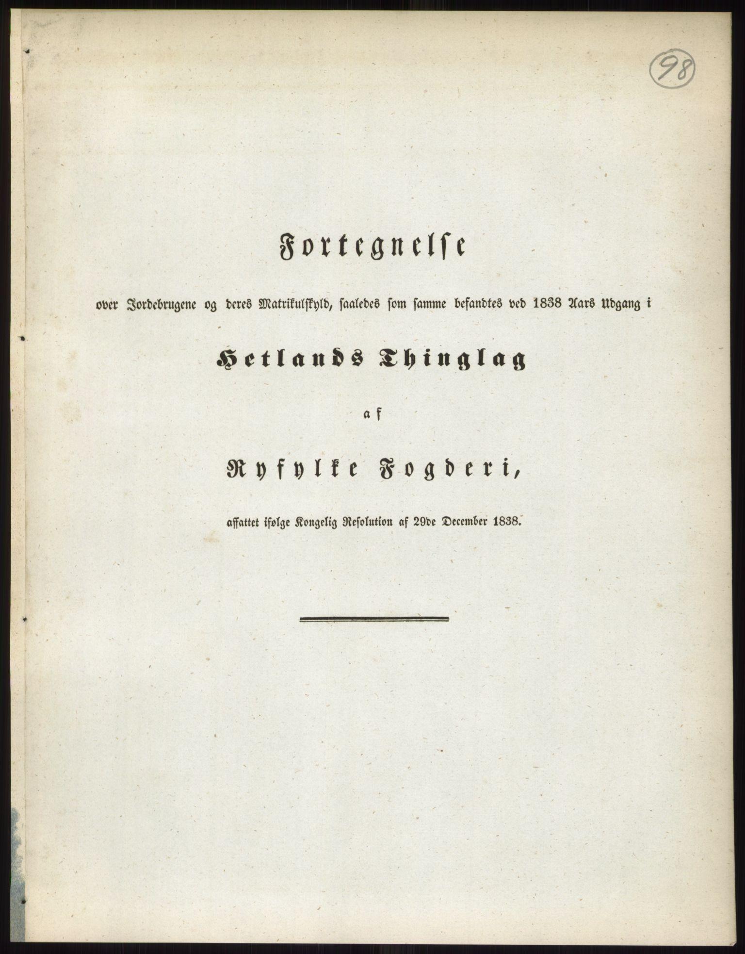 RA, 1838-matrikkelen (publikasjon)*, 1838, s. 98