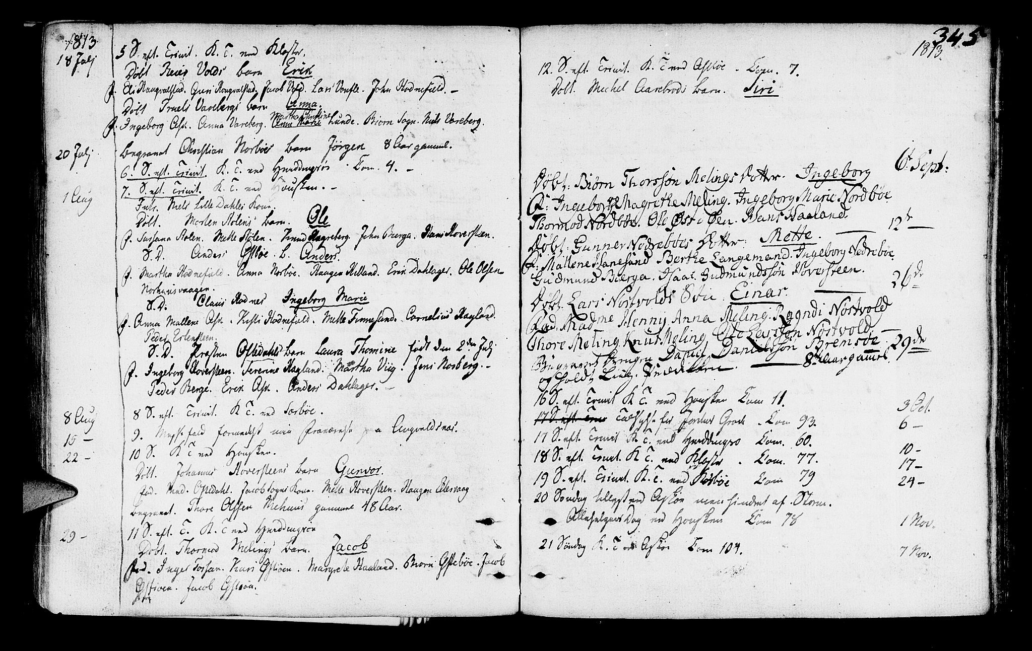 SAST, Rennesøy sokneprestkontor, H/Ha/Haa/L0003: Ministerialbok nr. A 3, 1772-1815, s. 345