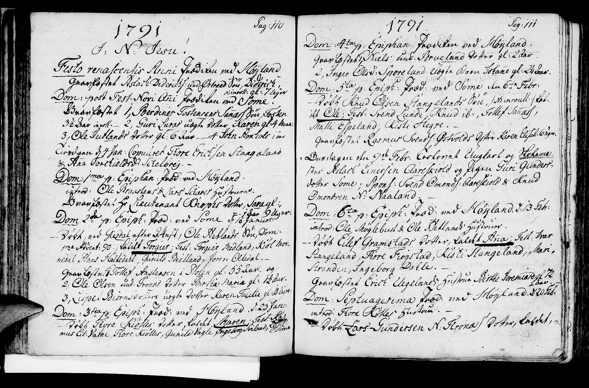 SAST, Høyland sokneprestkontor, 30BA/L0004: Ministerialbok nr. A 4, 1784-1803, s. 110-111