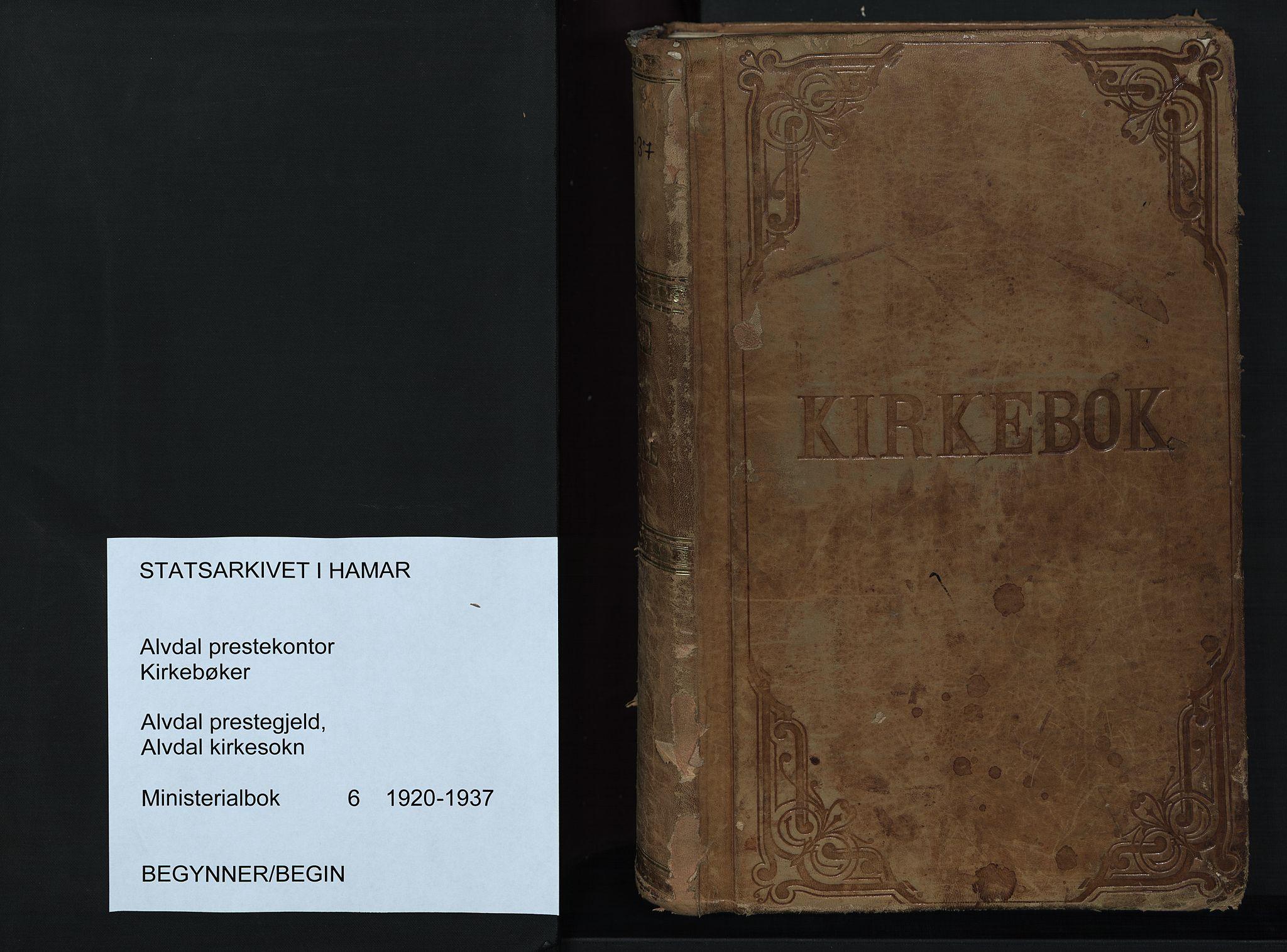 SAH, Alvdal prestekontor, Ministerialbok nr. 6, 1920-1937