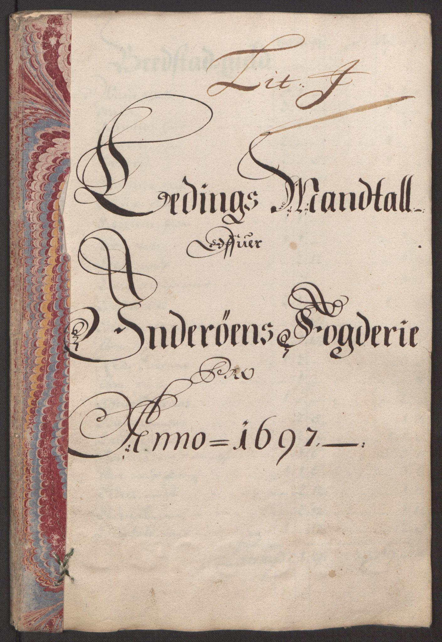 RA, Rentekammeret inntil 1814, Reviderte regnskaper, Fogderegnskap, R63/L4309: Fogderegnskap Inderøy, 1695-1697, s. 467