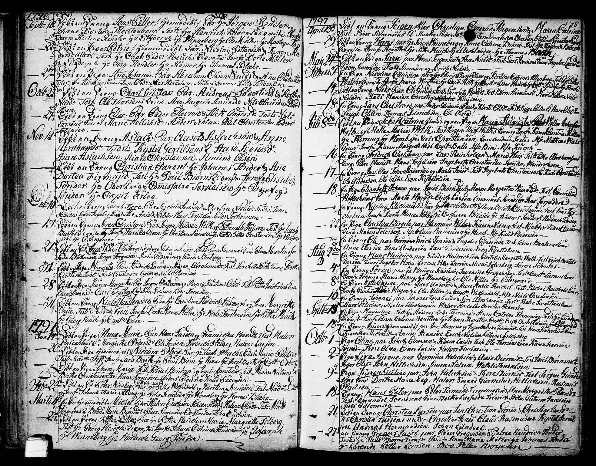 SAKO, Kragerø kirkebøker, F/Fa/L0002: Ministerialbok nr. 2, 1767-1802, s. 75