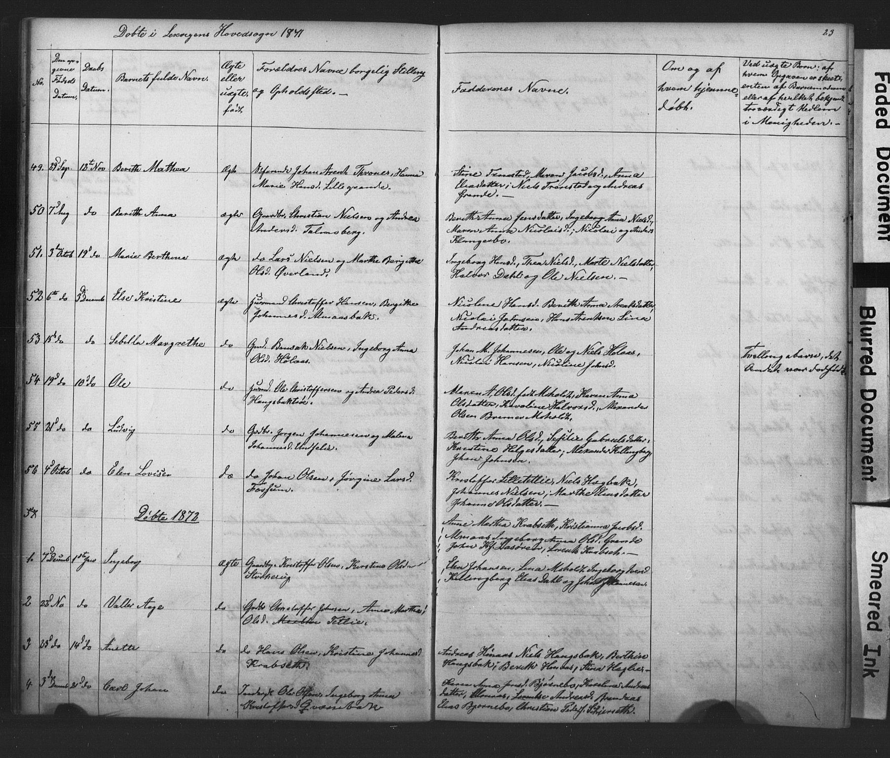 SAT, Ministerialprotokoller, klokkerbøker og fødselsregistre - Nord-Trøndelag, 701/L0018: Klokkerbok nr. 701C02, 1868-1872, s. 23