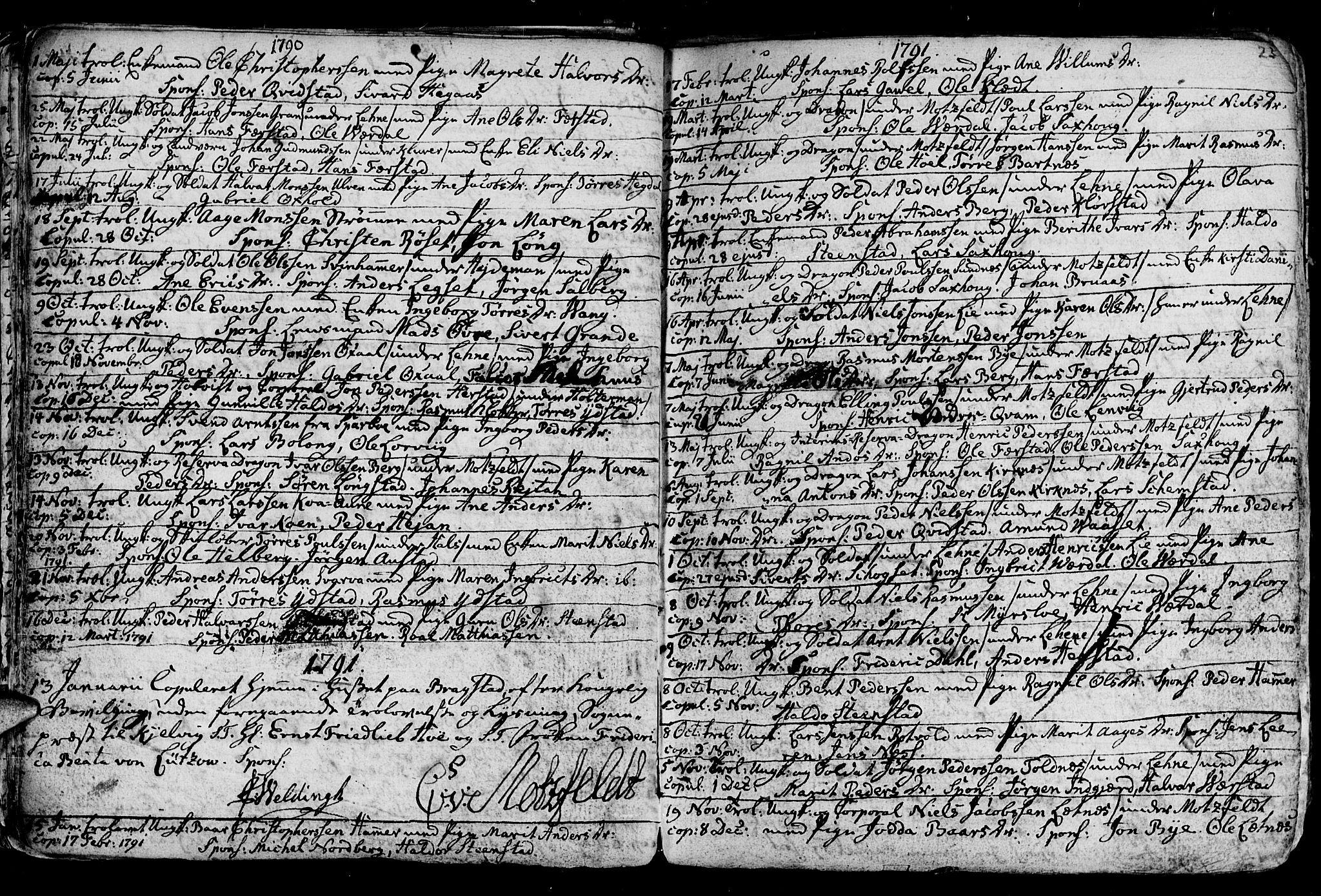 SAT, Ministerialprotokoller, klokkerbøker og fødselsregistre - Nord-Trøndelag, 730/L0273: Ministerialbok nr. 730A02, 1762-1802, s. 23