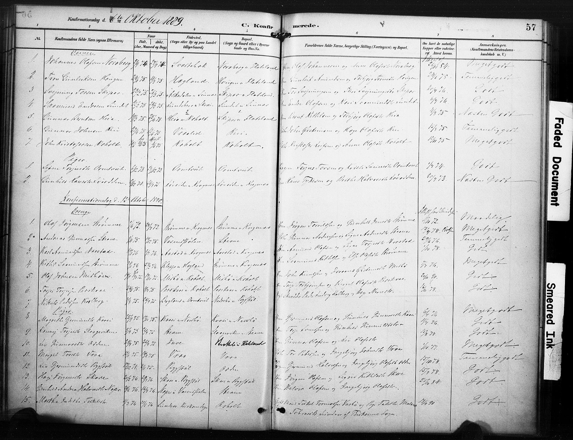 SAKO, Kviteseid kirkebøker, F/Fc/L0002: Ministerialbok nr. III 2, 1882-1908, s. 57